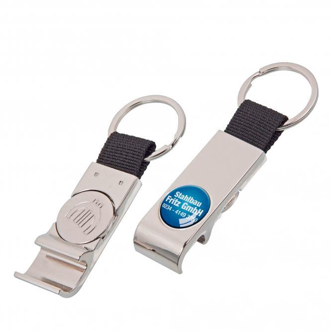 Key Fob, metal with nylon strip