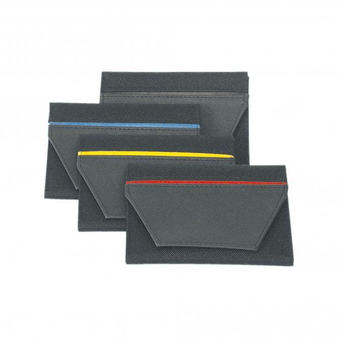 Führerscheintasche Colour Stripe | schwarz/rot