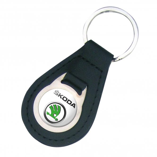 Key Fob, synthetic leather and metal