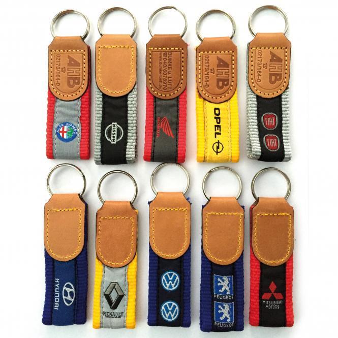 Key Fobs Car Brands, nylon and leather   Mitsubishi