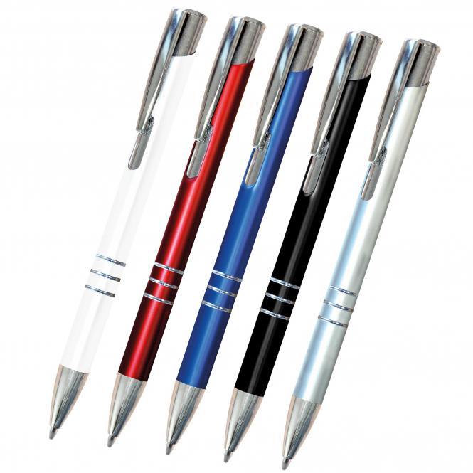 Druckkugelschreiber mit 3 Zierringen, 500 Stück