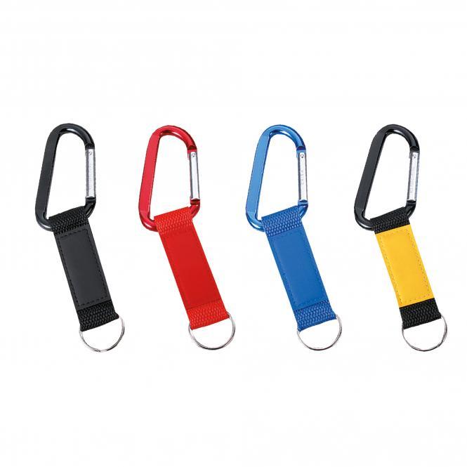 Schlüsselanhänger aus Nylon und Kunststoff | blau