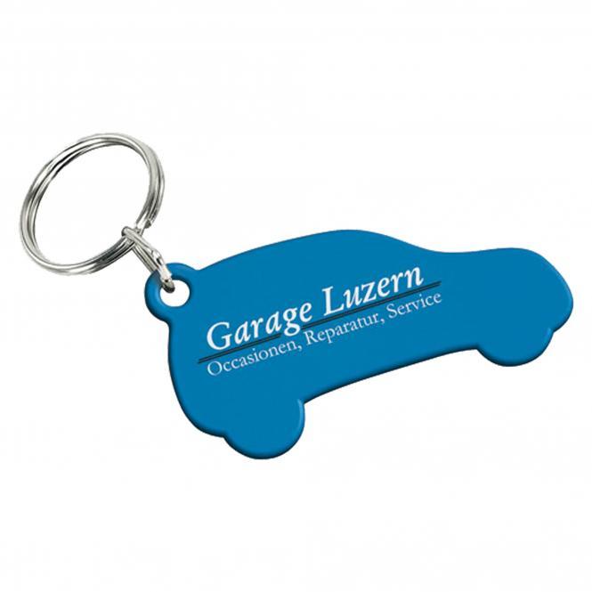 Schlüsselanhänger, verschiedene Formen, Kunststoff | 52 x 25 mm Auto