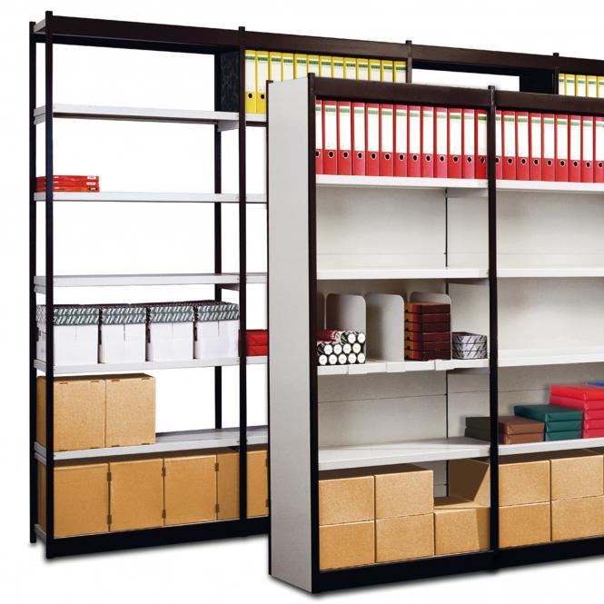 Regalfelder für Büro-Regal, ohne Rückwand