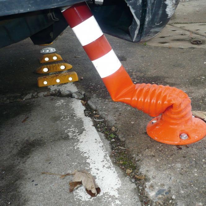 Flexipfosten, orange