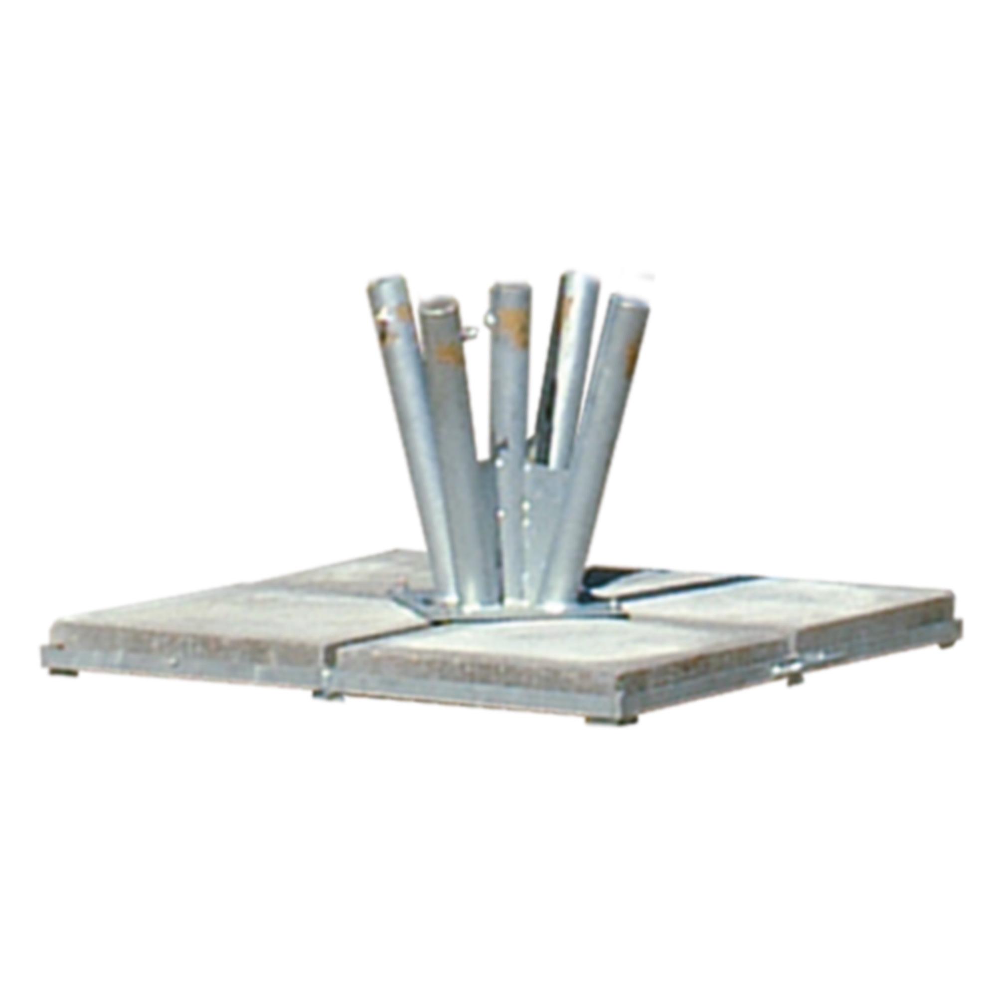 Standfuß für 5 Maste bis 50 mm Durchmesser