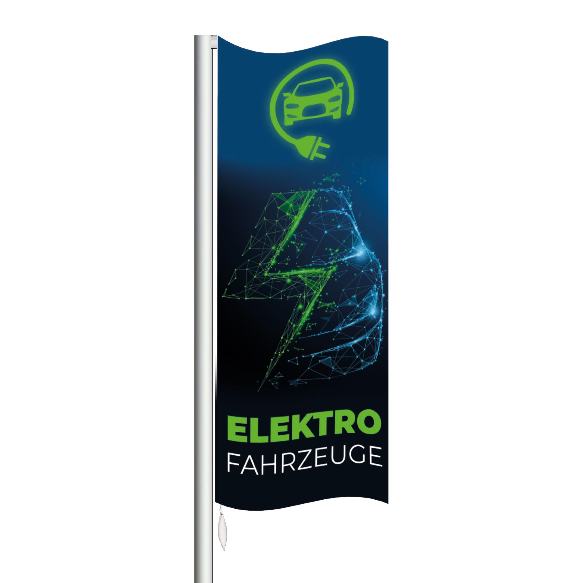 """Fahne """"Elektro"""", 120 x 300 cm"""
