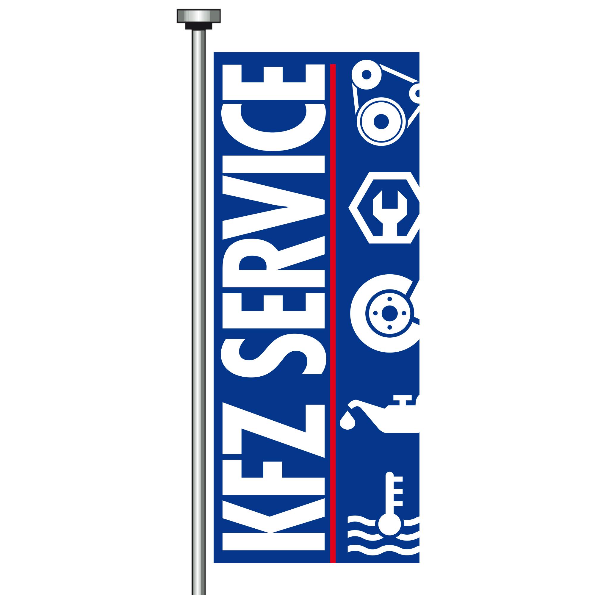 "Fahne ""Kfz-Service"", 120 x 300 cm"