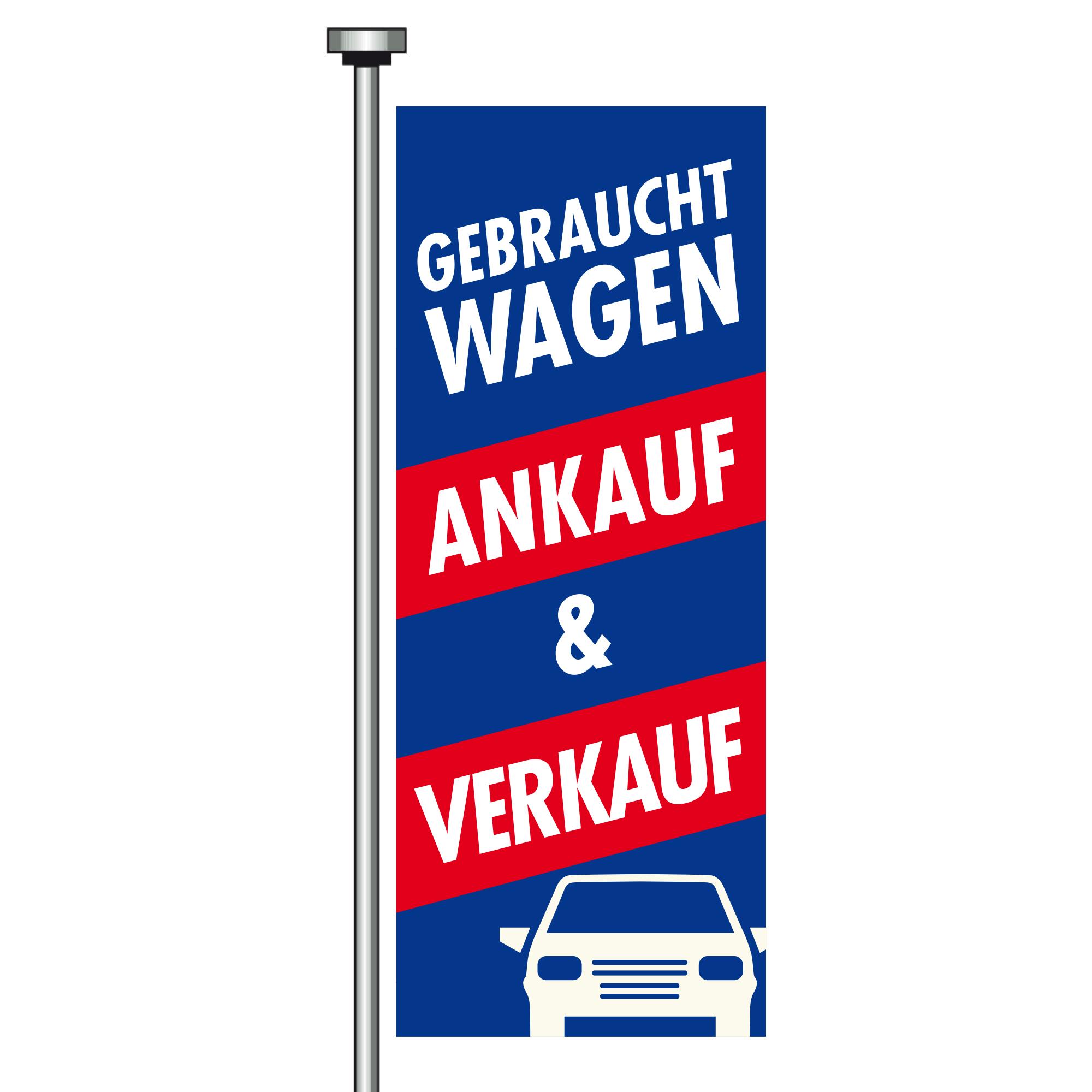 "Fahne ""Ankauf & Verkauf"" 120 x 300 cm"