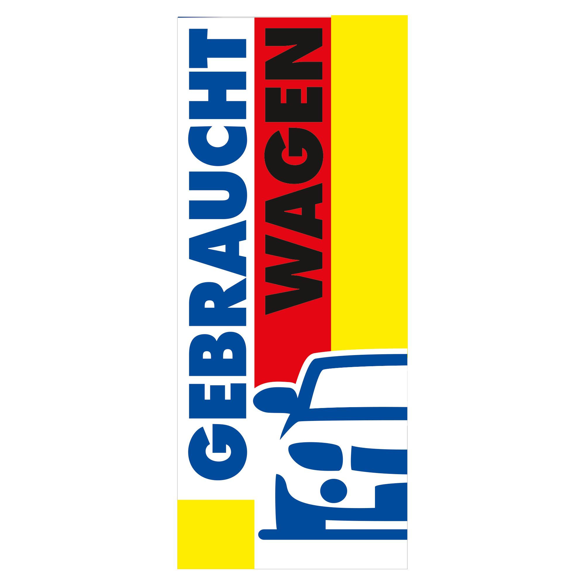 """Fahne """"Gebrauchtwagen"""""""
