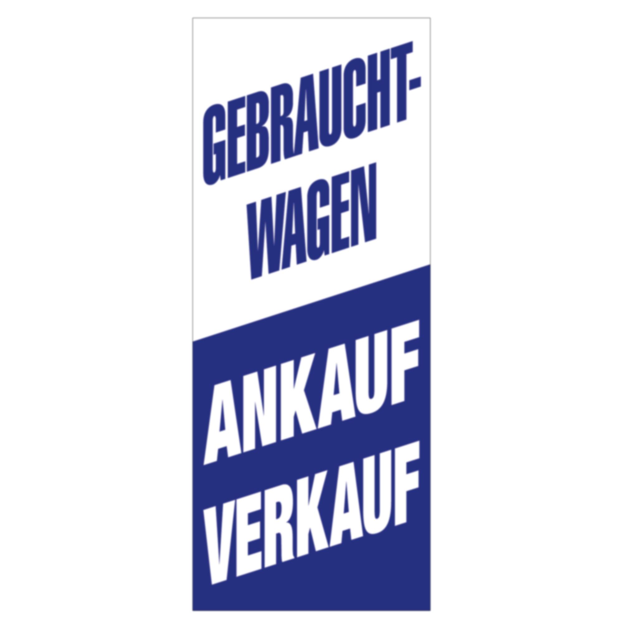 "Fahne ""Ankauf - Verkauf"", 120x300 cm"