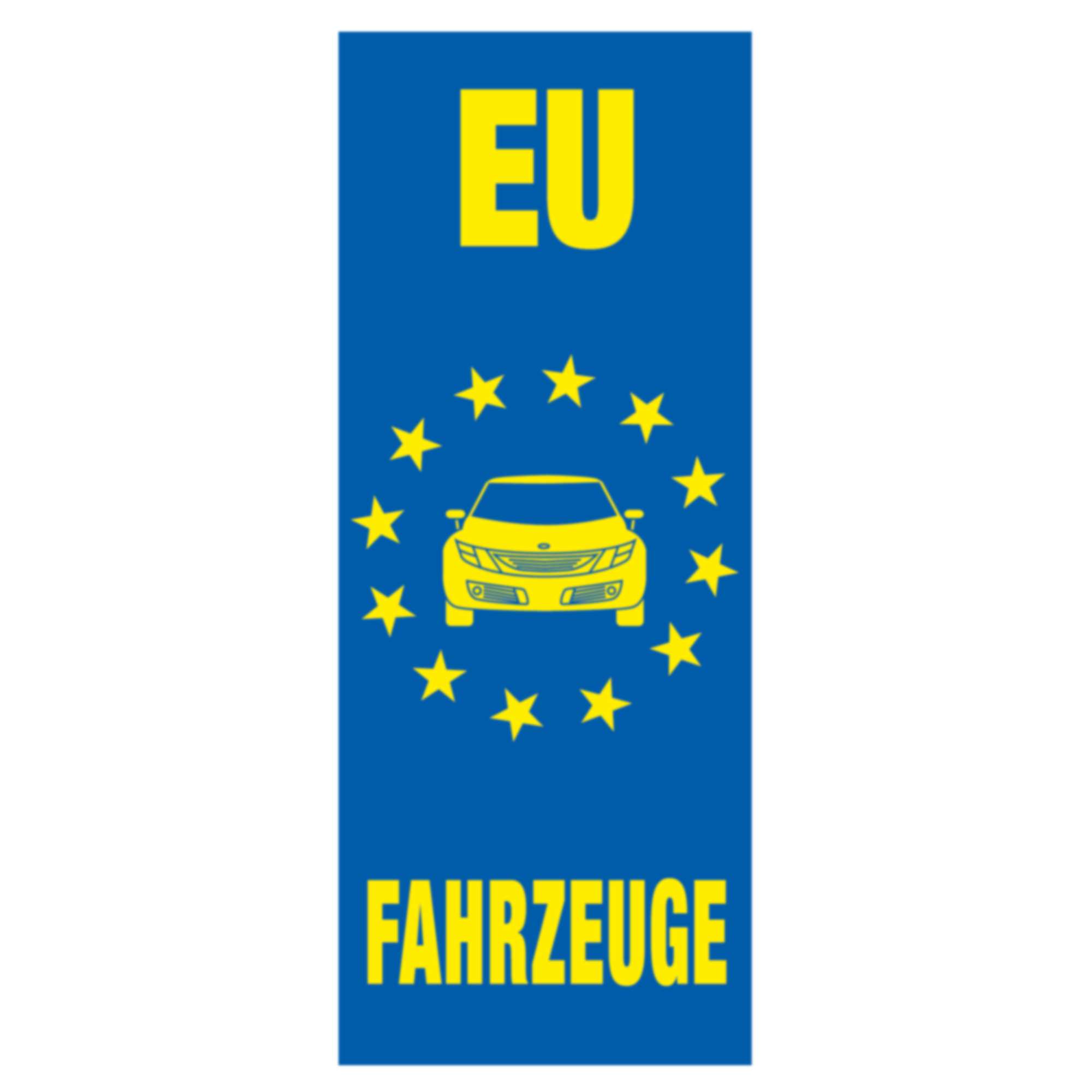 """Fahne """"EU Fahrzeuge"""", 120 x 300 cm"""