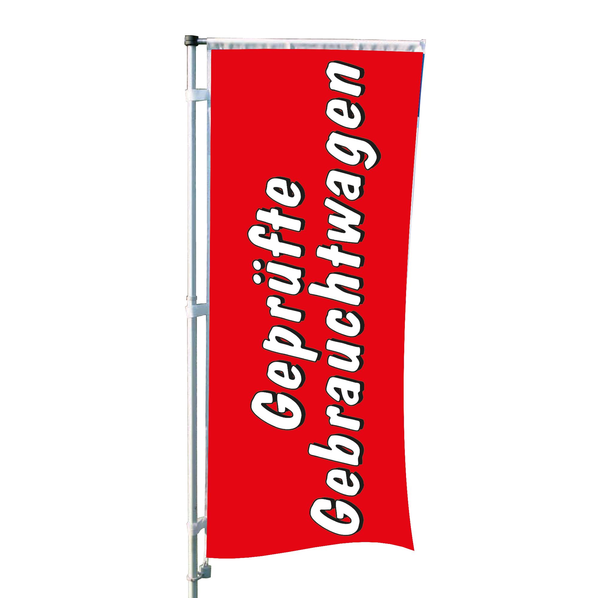 """Fahne """"Geprüfte Gebrauchtwagen"""""""
