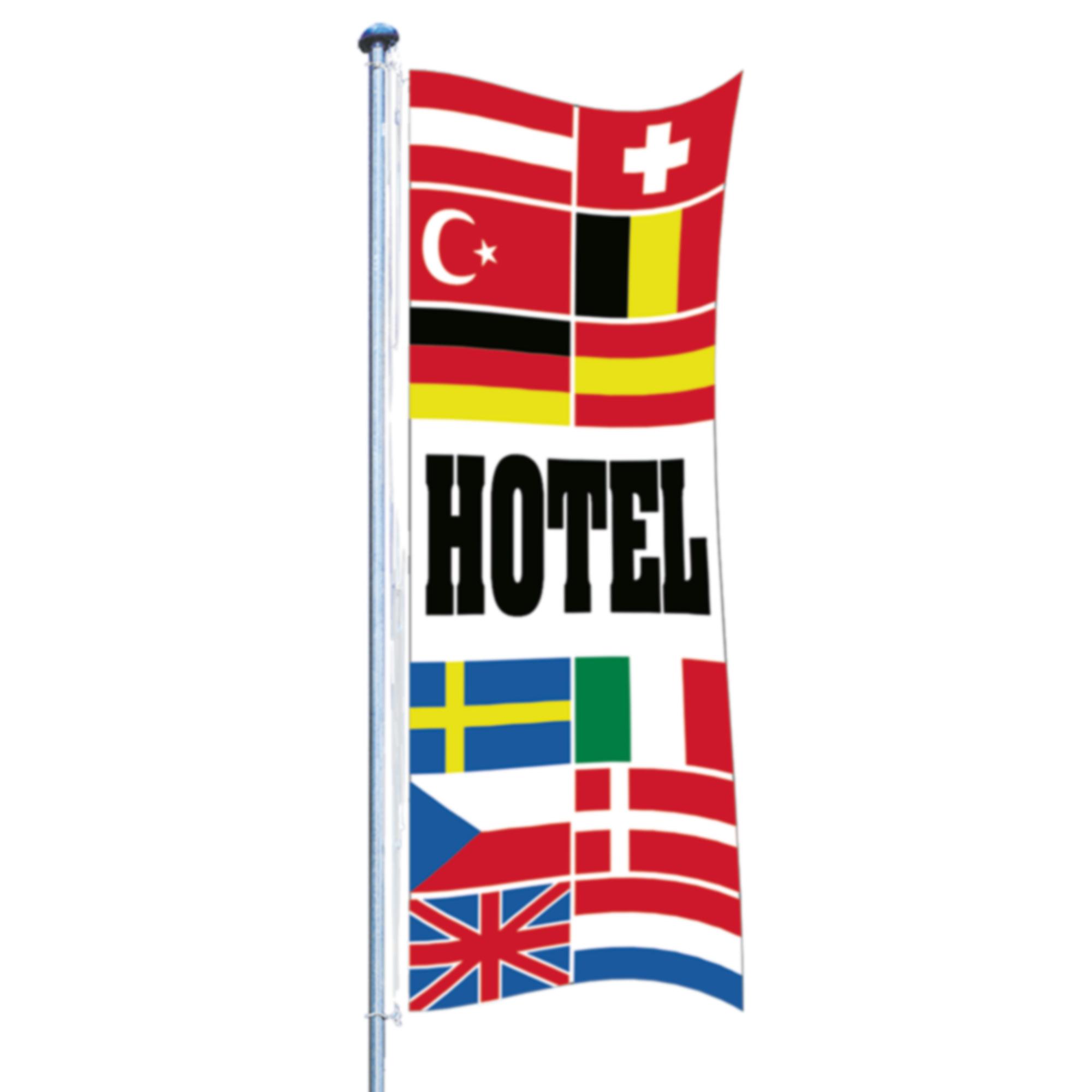 """Europafahne mit """"Hotel"""""""