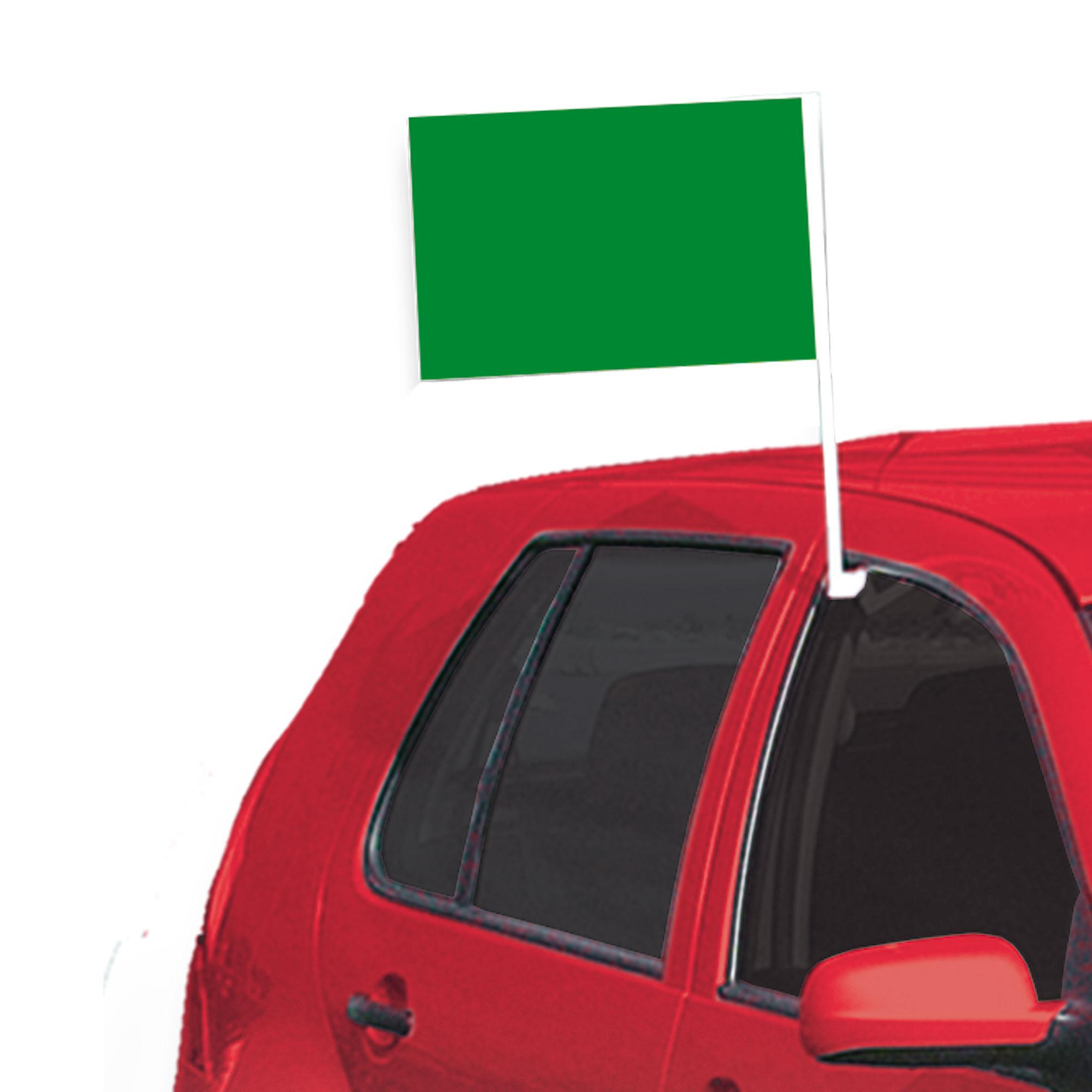 Grün einfarbig Auto Flagge, ca.28x45cm