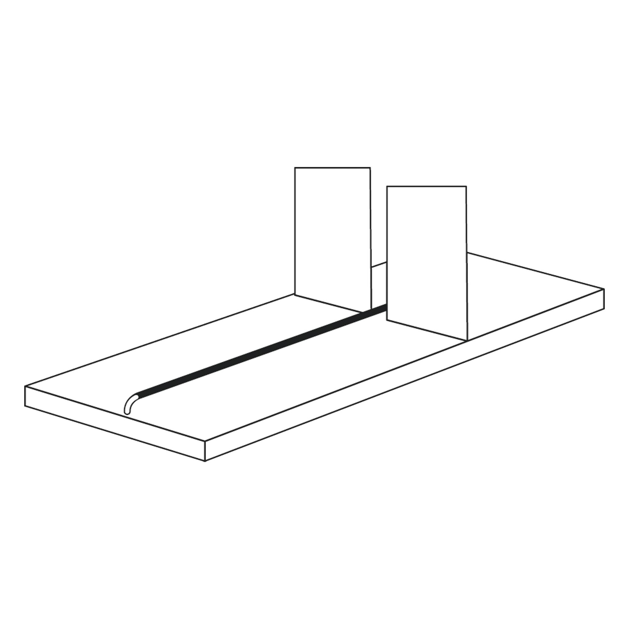Trennsteg für 600 mm tiefe Fachböden, 1000 mm
