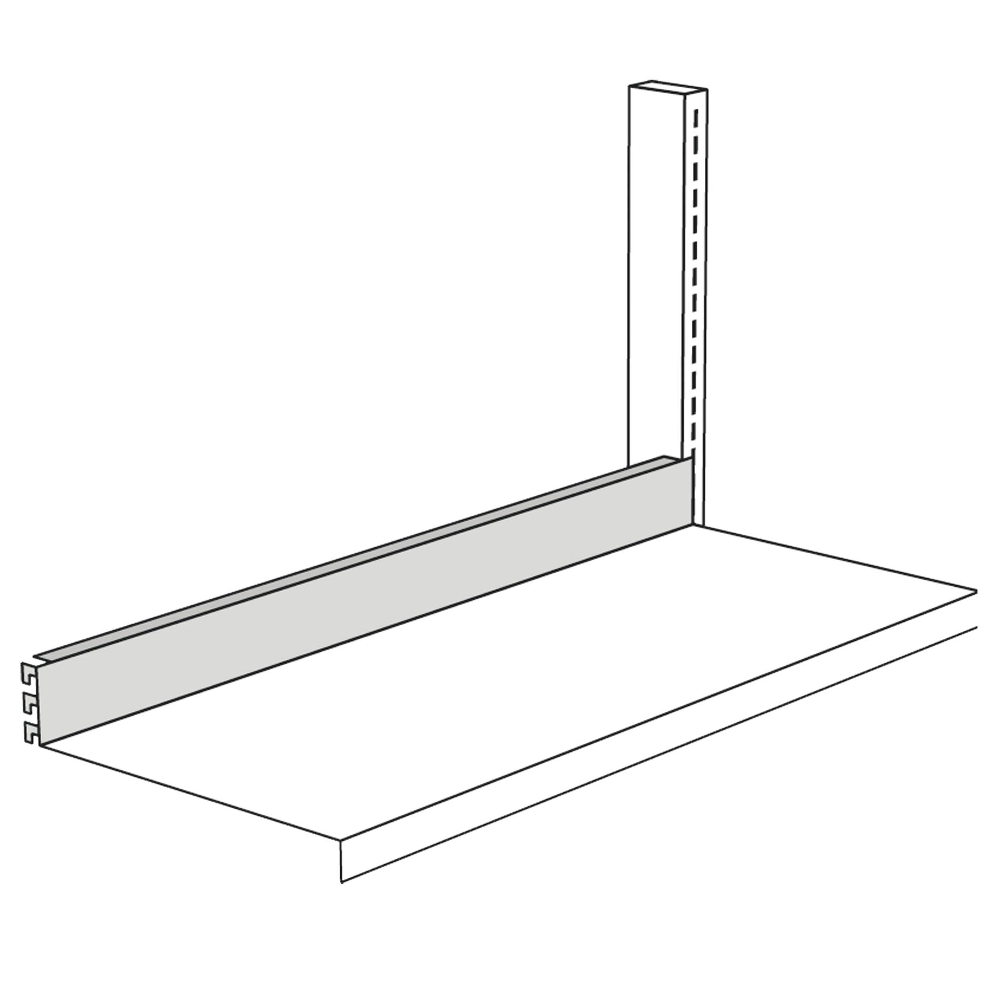 Abschlussleiste für Freiarm-Regal, 750 mm breit
