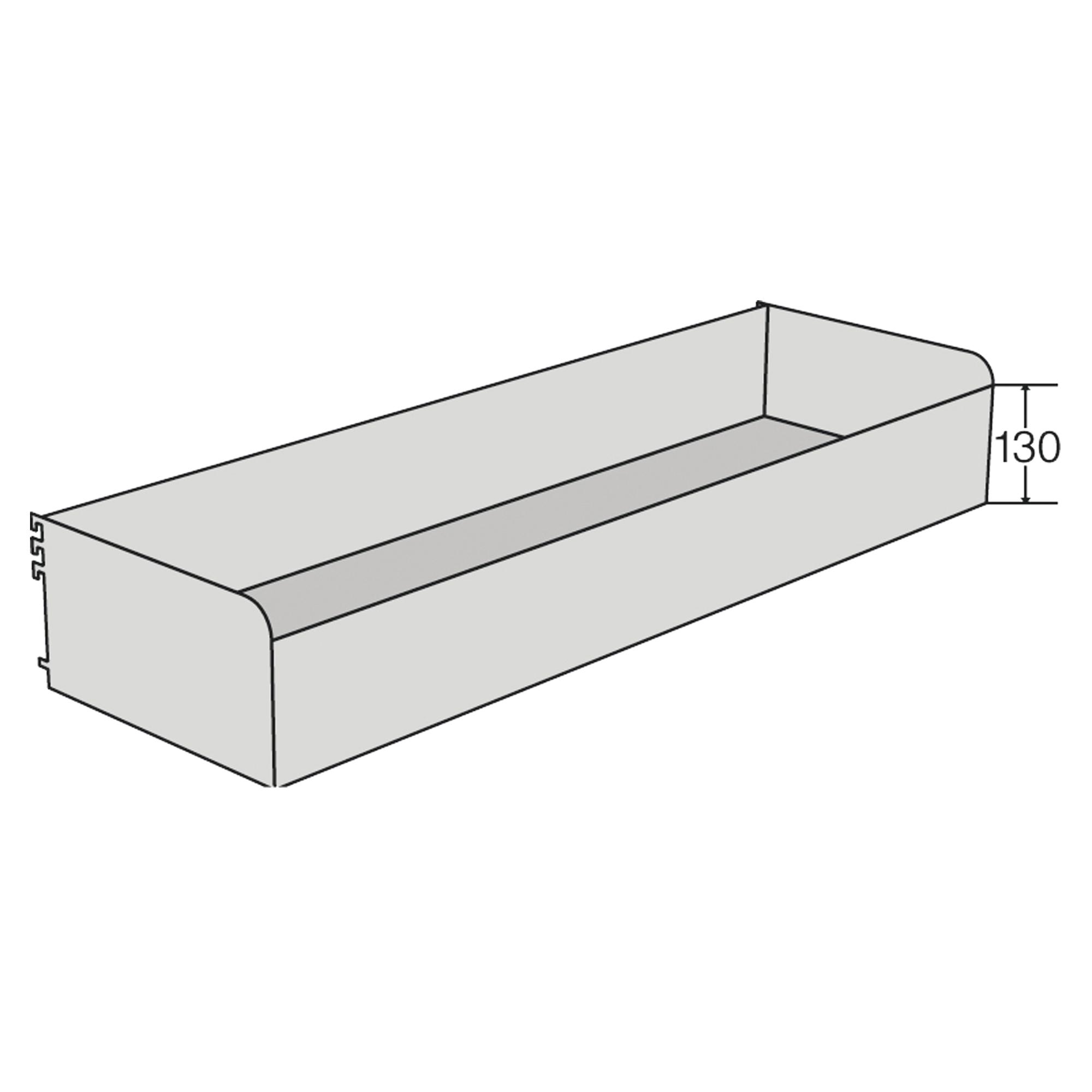 Fachkasten-Frontkante 130 mm hoch f. Freiarm-Regal