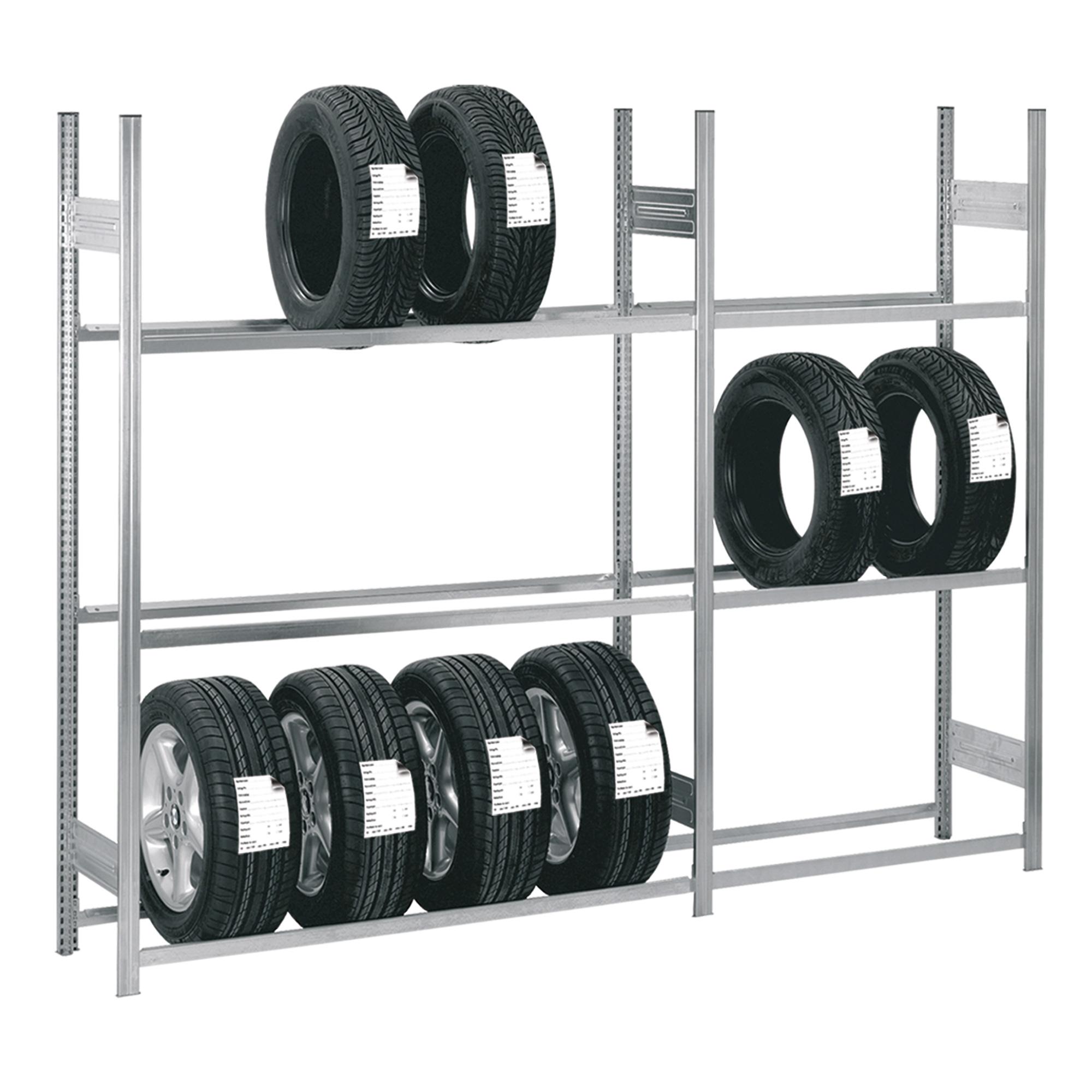 Grundregale für Reifen und Räder