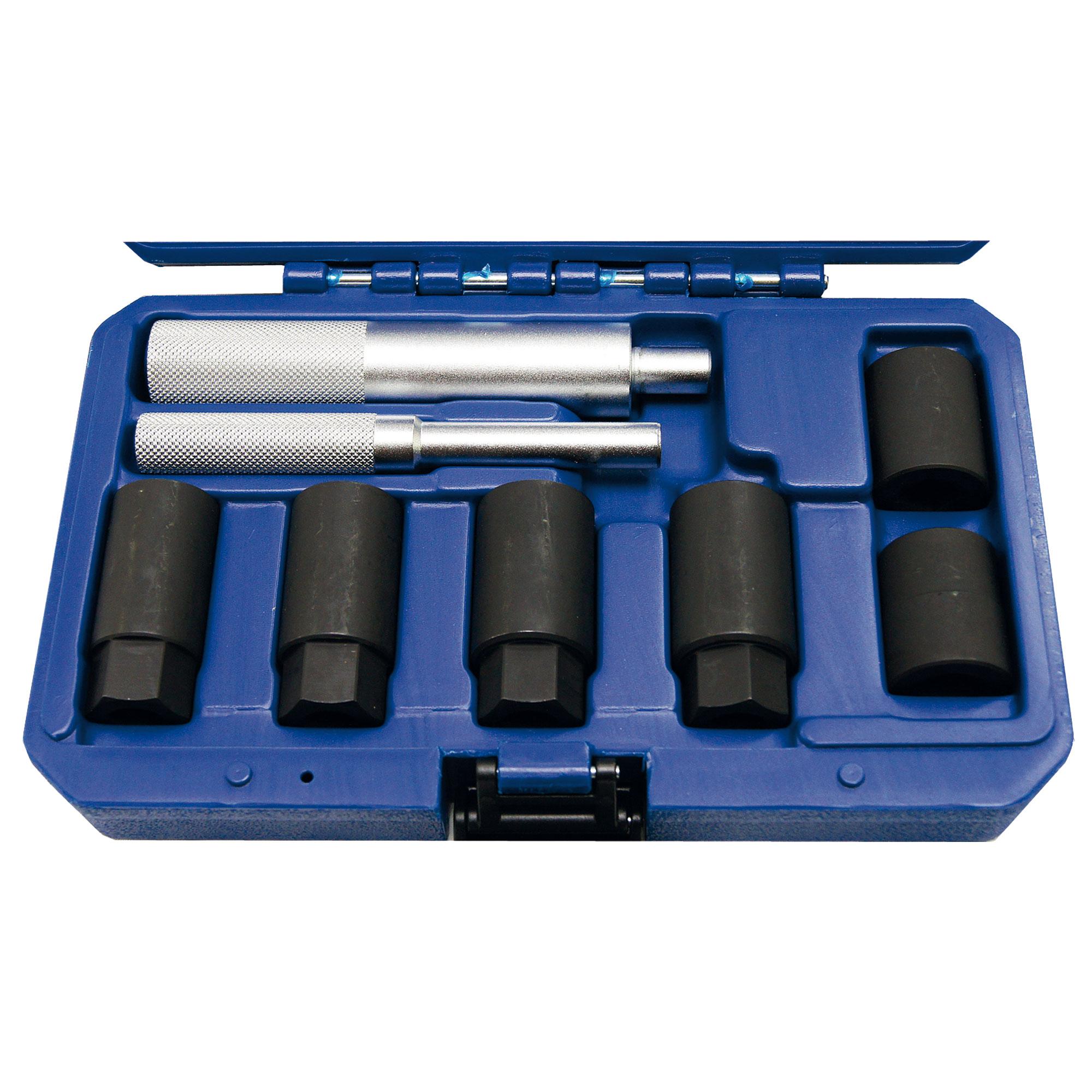 Felgenschloss-Lösewerkzeugsatz, komplett, 8-tlg.