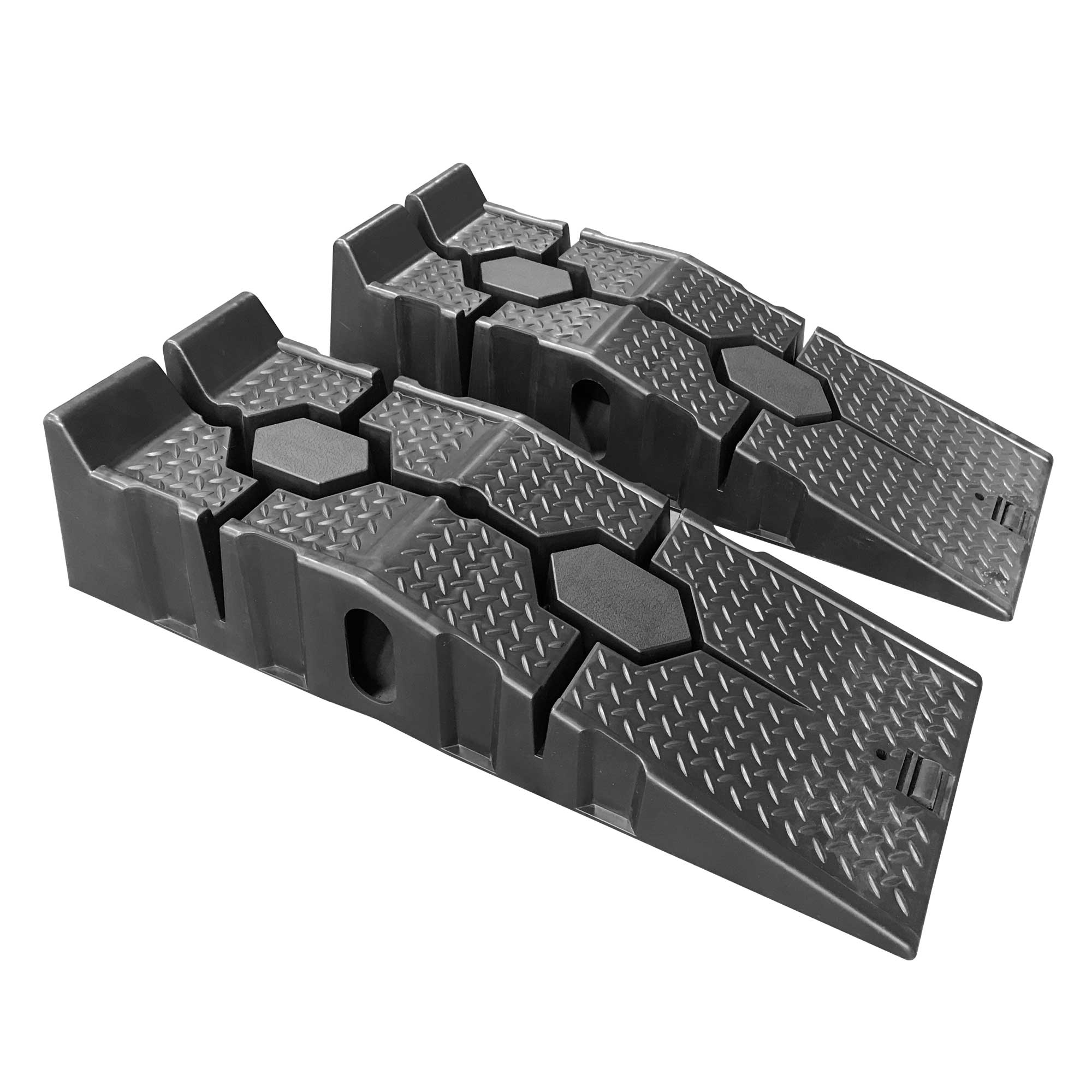 Auffahrrampe aus Kunststoff, schwarz,1 SET=2 Stck