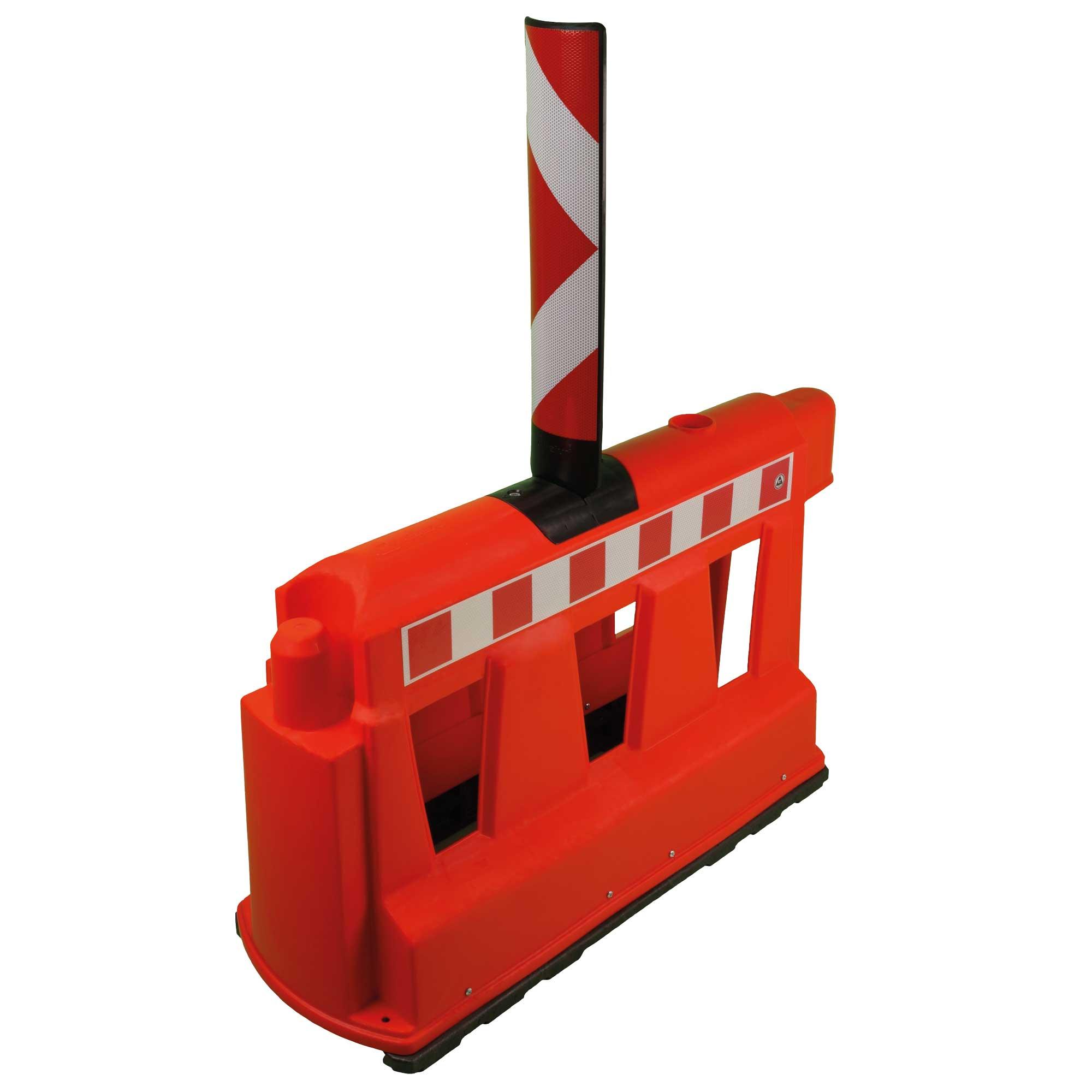 Fahrbahnteiler rot mit Sichtzeichen