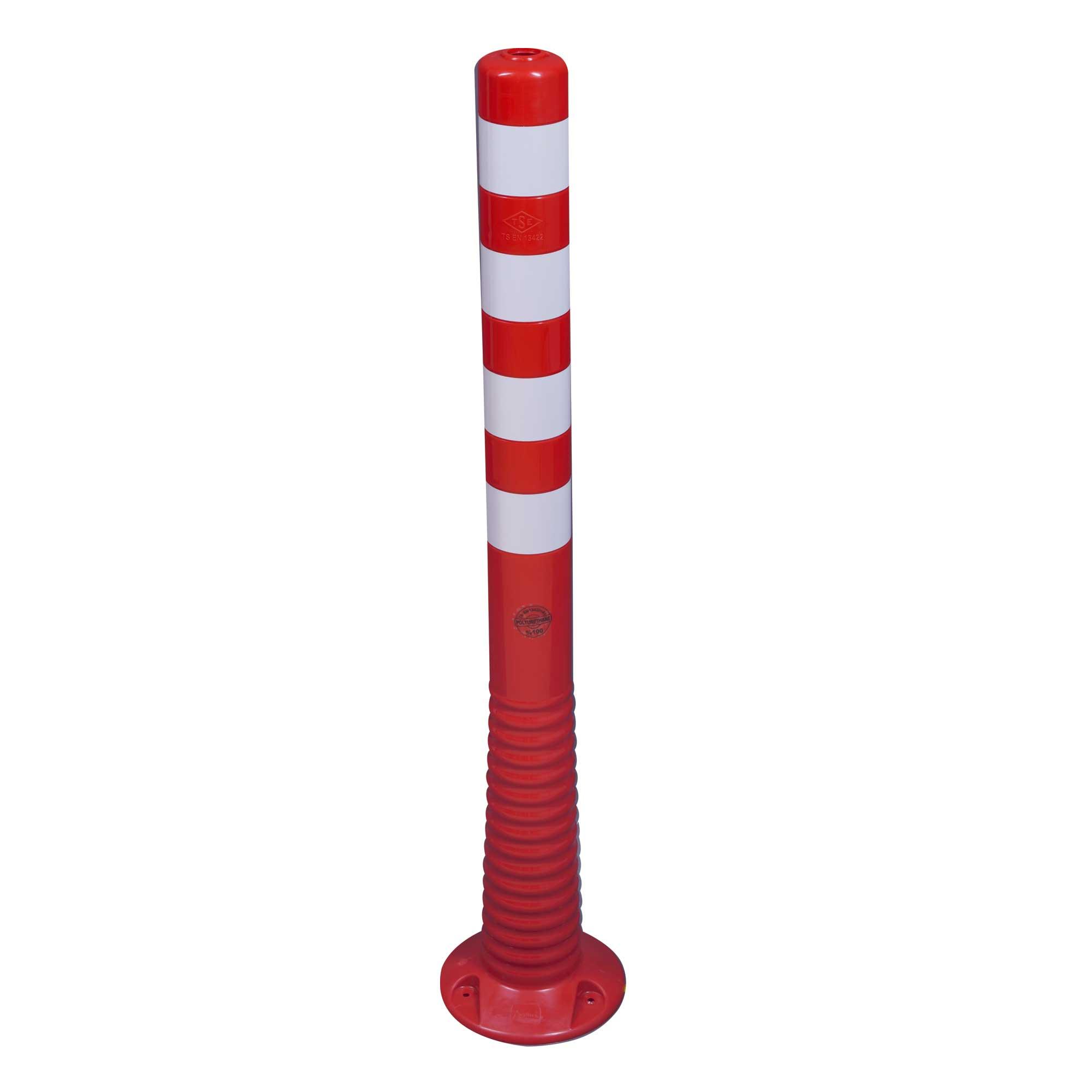 Flexipfosten 1000 mm, rot/weiß