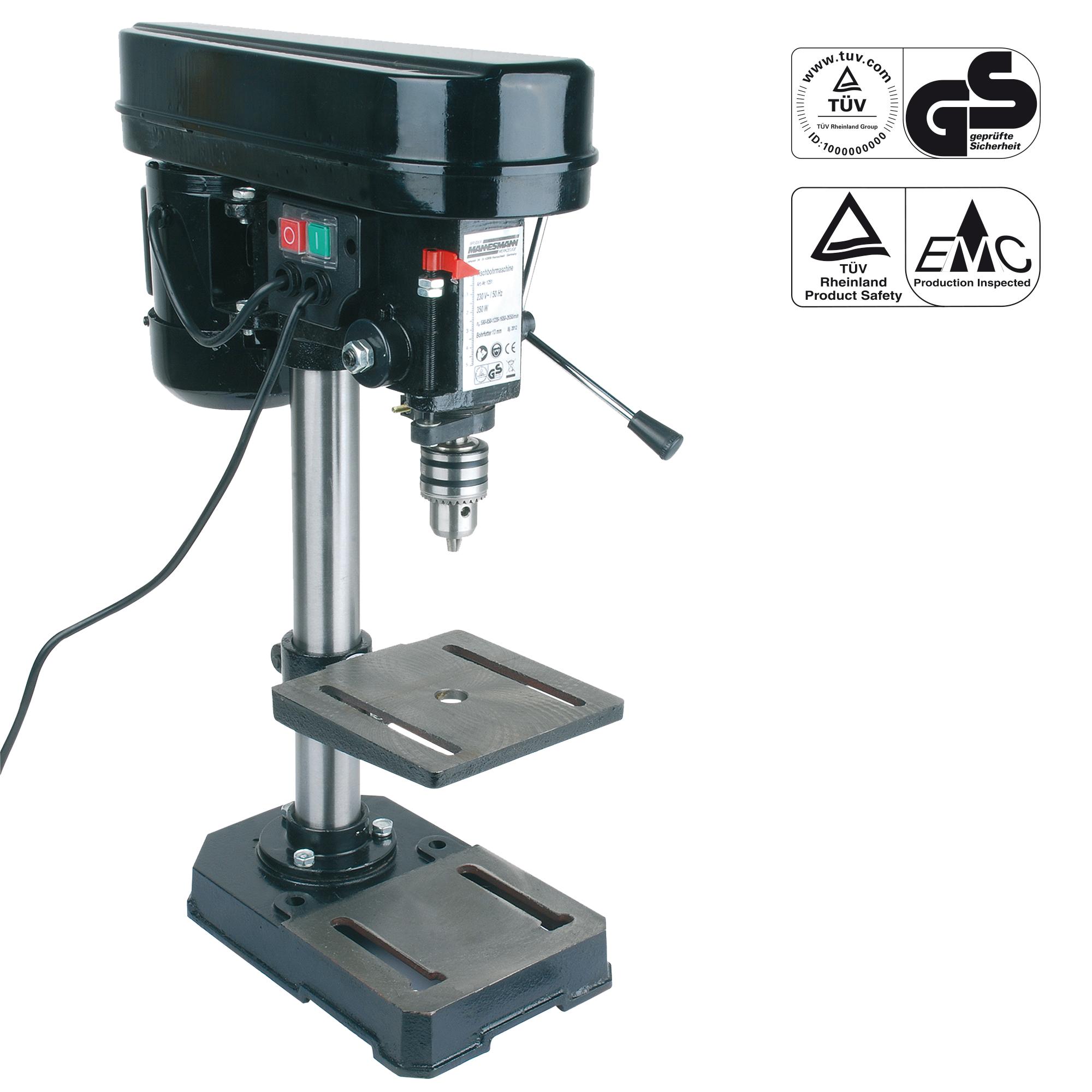 Säulenbohrmaschine mit Nullspannungsschalter
