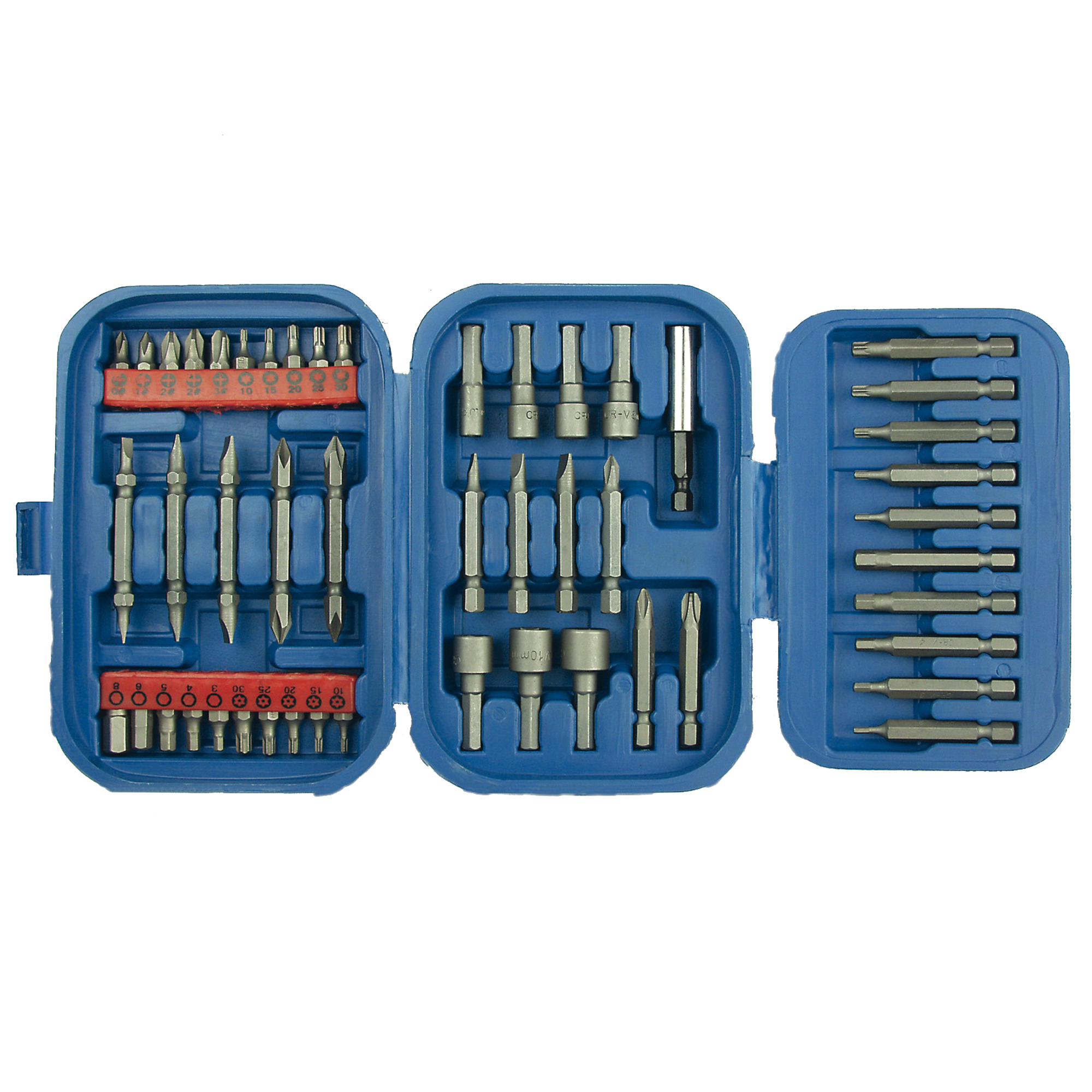 Steckschlüssel- und Bitsatz 49teilig