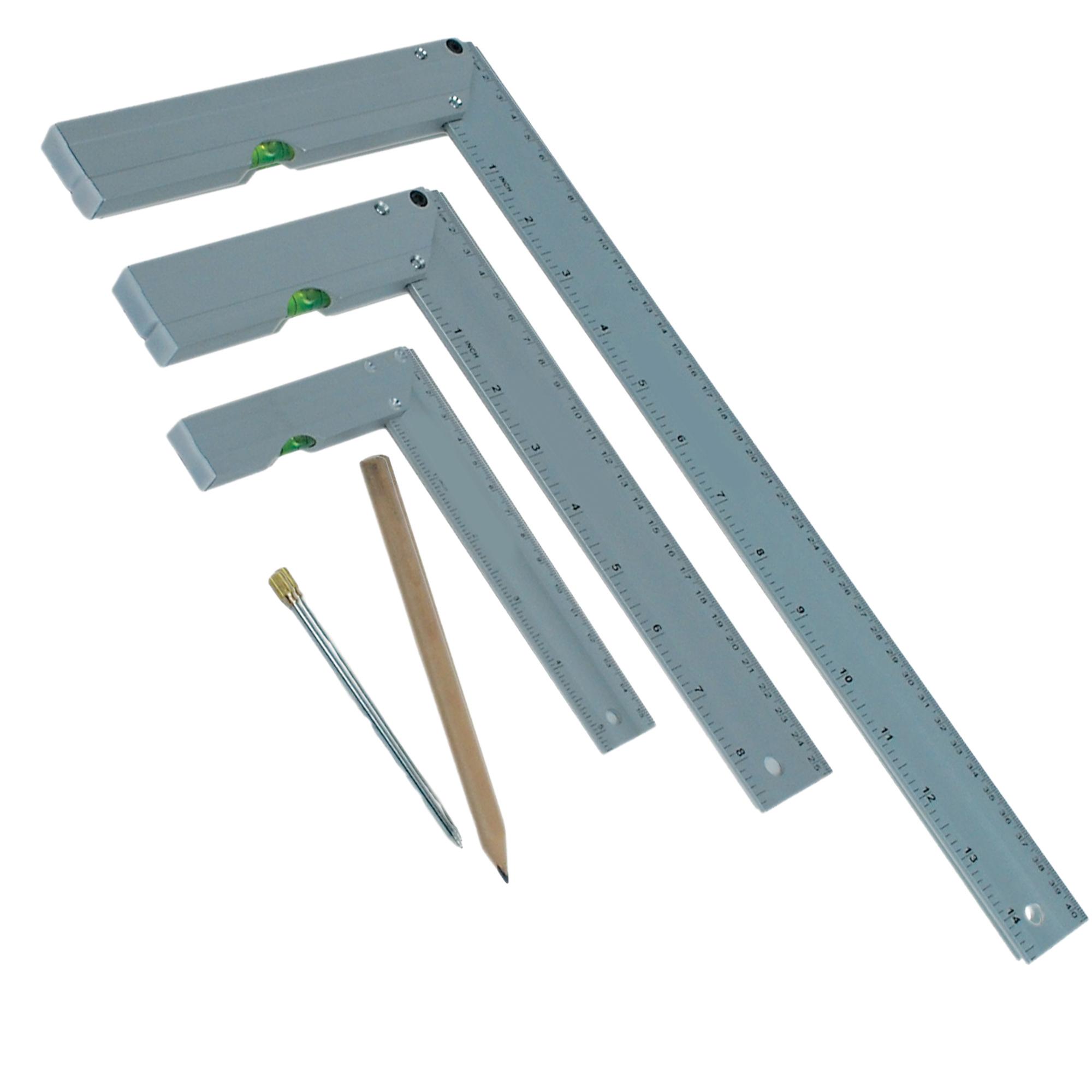 Aluminium Anschlagwinkel-Set inkl. Anreißer