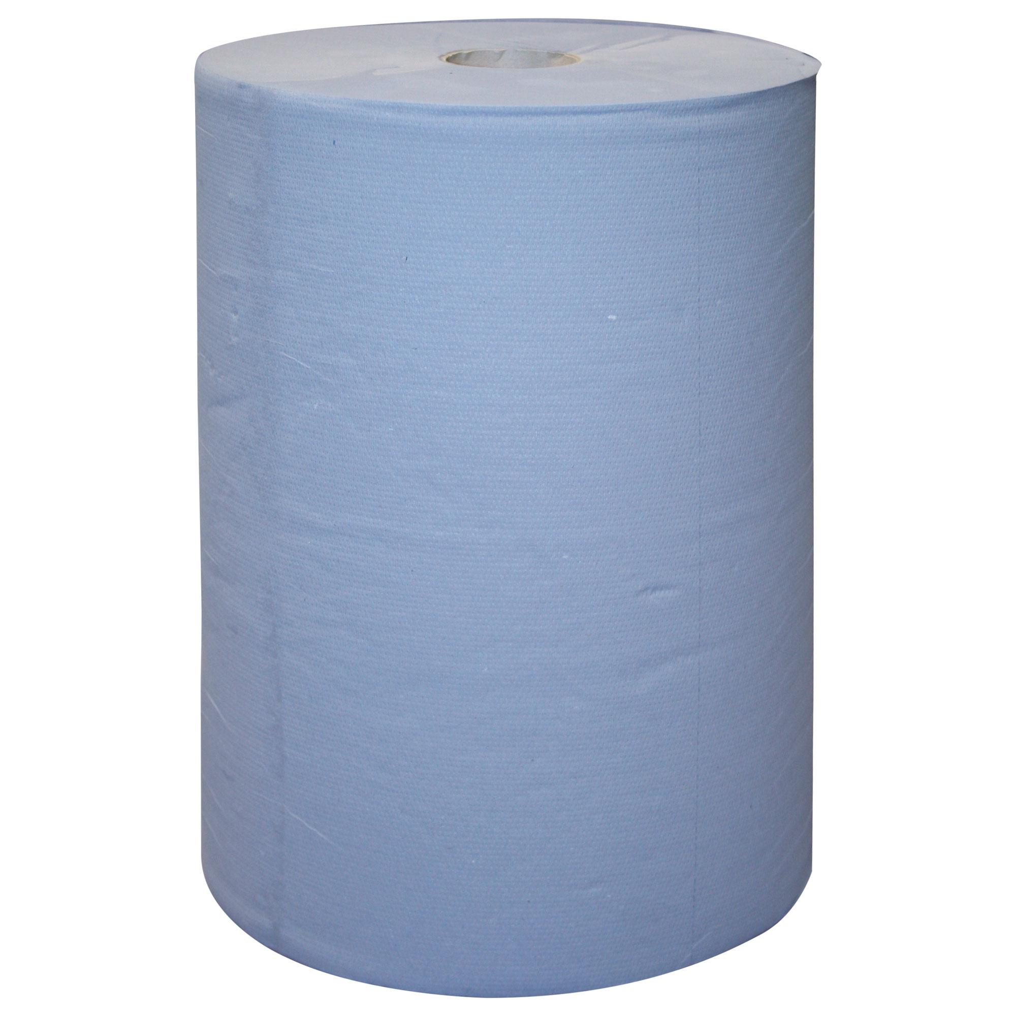 Putzpapierrolle, blau, 2 Rollen