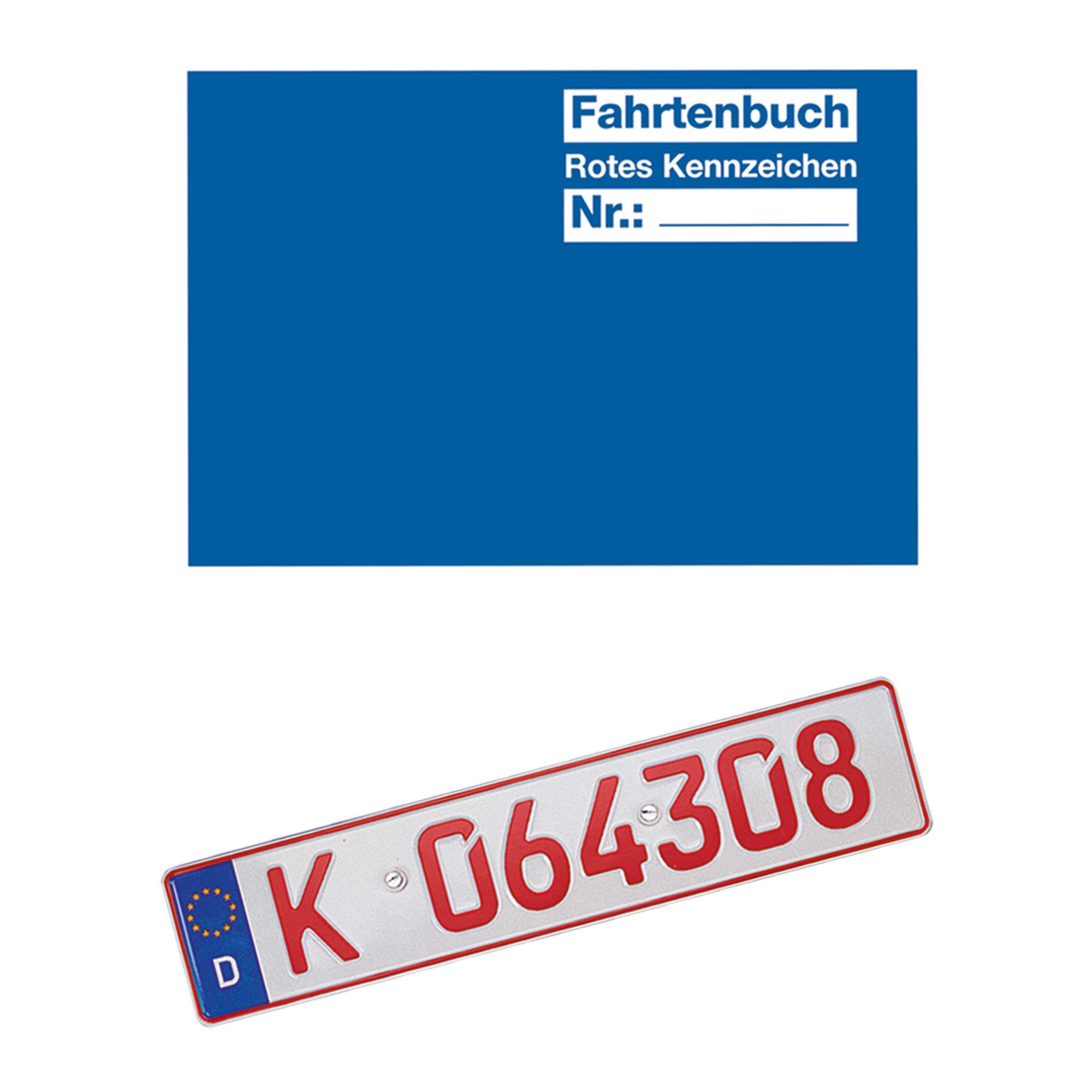 fahrtenbuch f r rotes kennzeichen jetzt online kaufen im. Black Bedroom Furniture Sets. Home Design Ideas