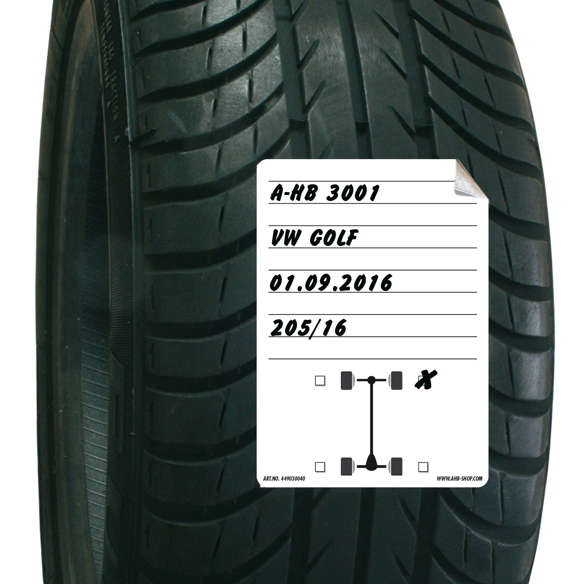 Tire Storage Stickers Din A6 Buy It Now At Ahb Shop