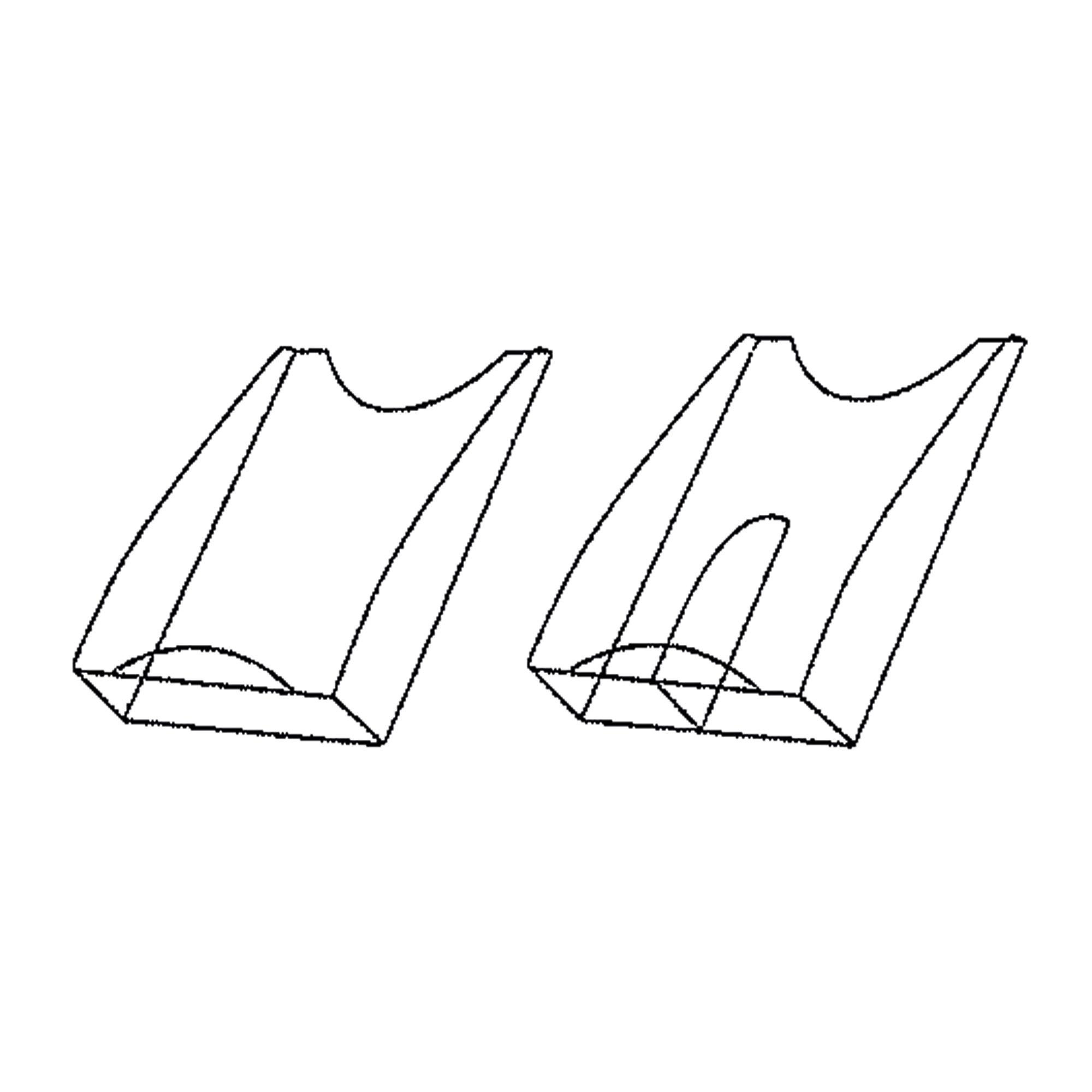 Prospektfach aus Acrylglas DIN A4