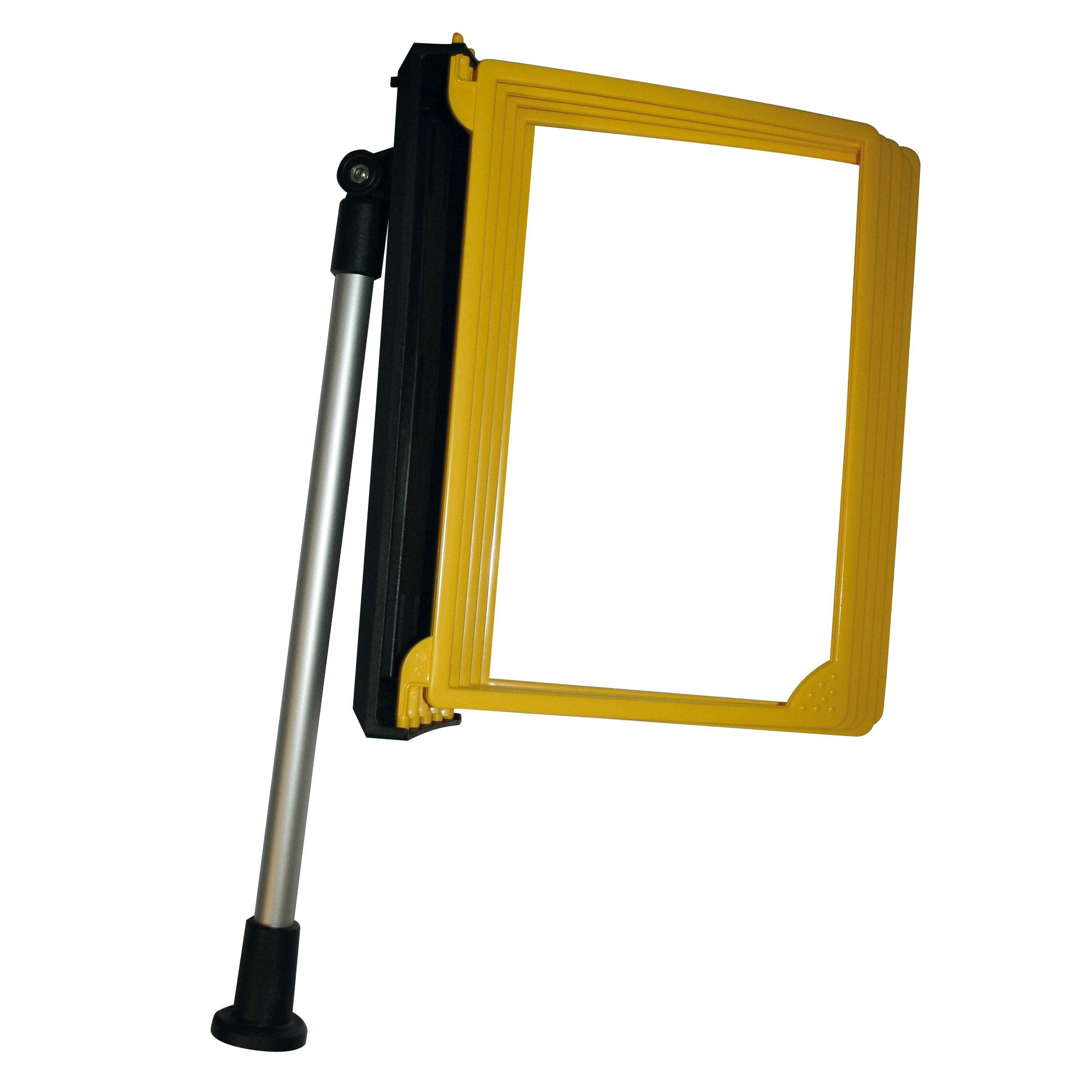 Kassenständer mit 5 Rahmen A4 in gelb jetzt online kaufen im AHB Shop