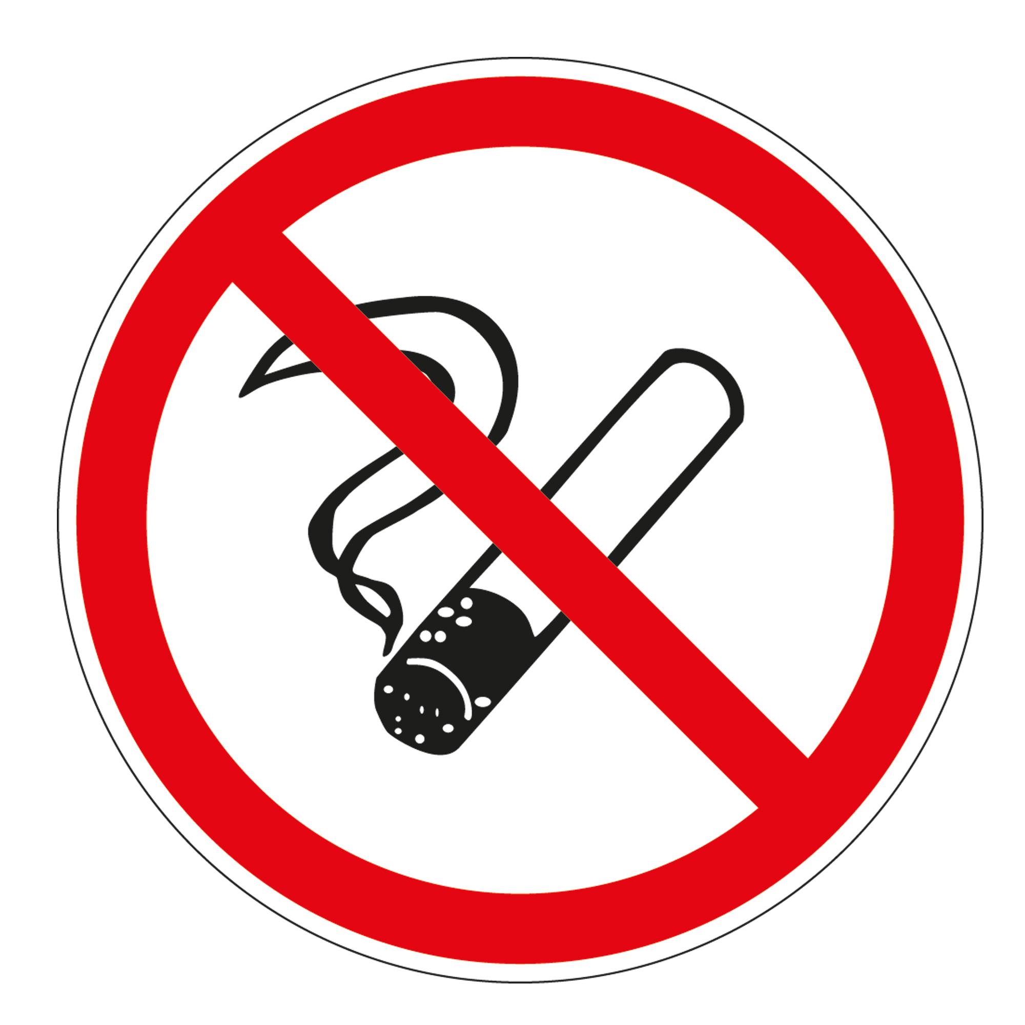 PVC Nichtraucher-Sticker