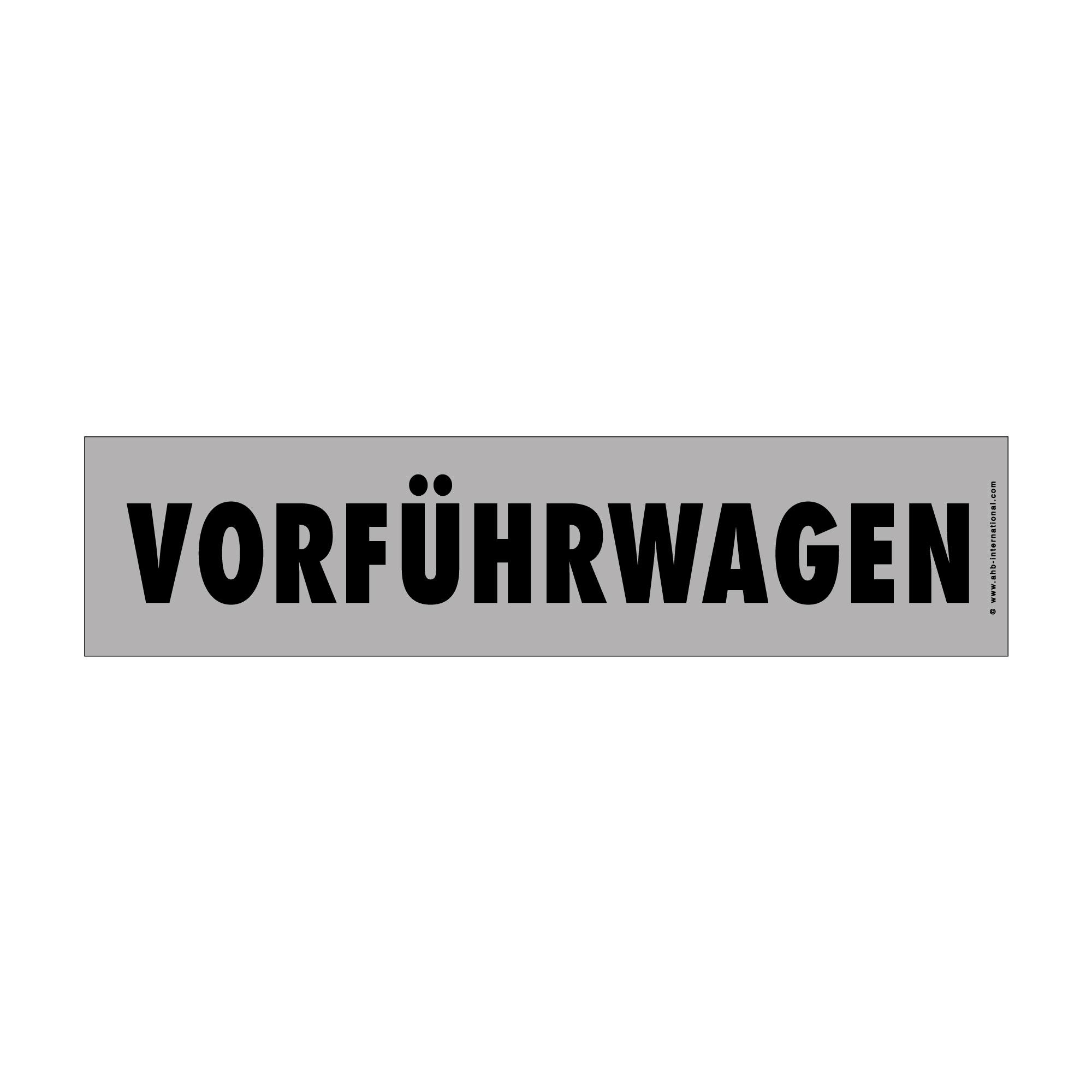 """Hinweisschild easy-stick """"Vorführwagen"""""""