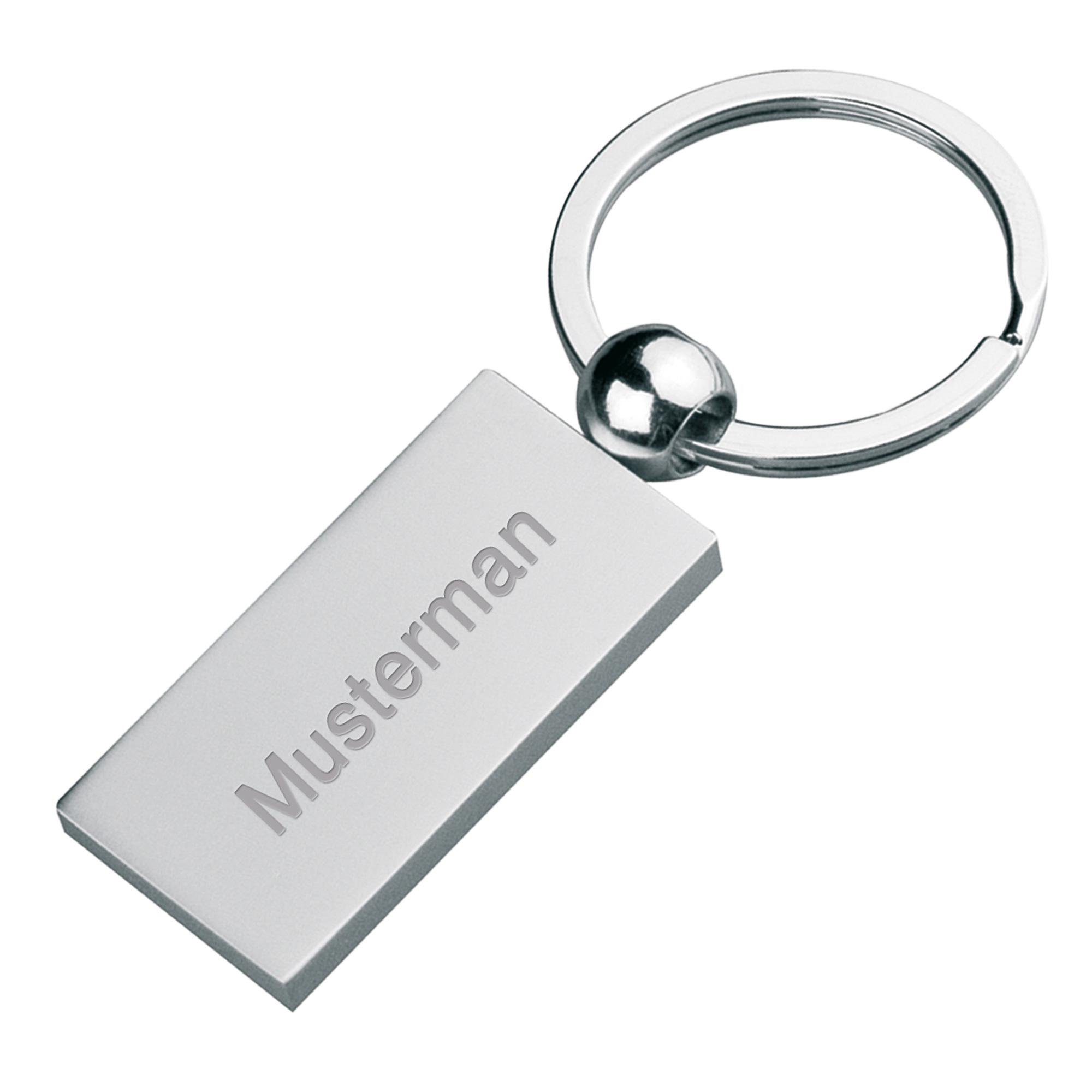 Schlüsselanhänger aus Metall, matt