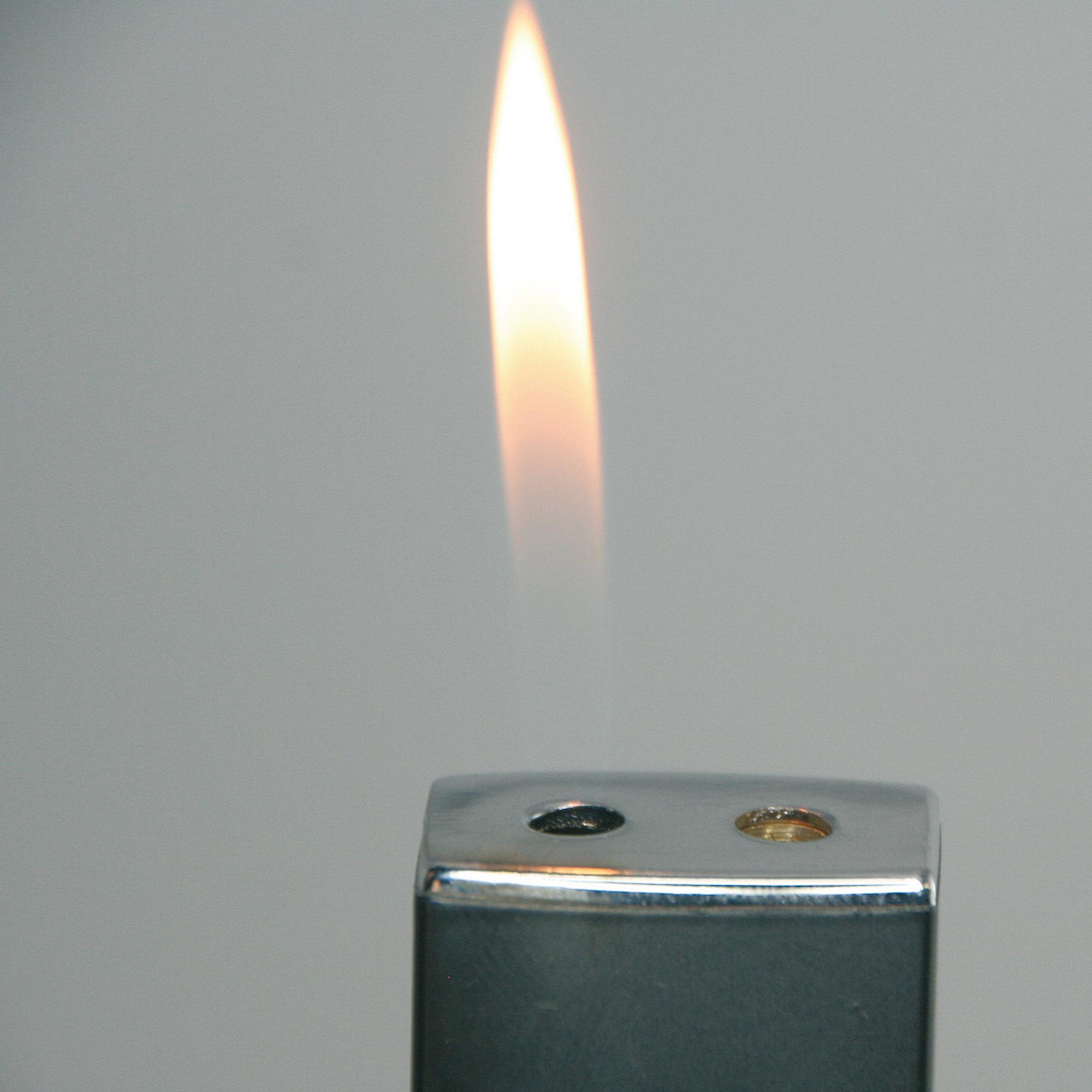 Feuerzeug, 2 Flammen, aus Aluminium