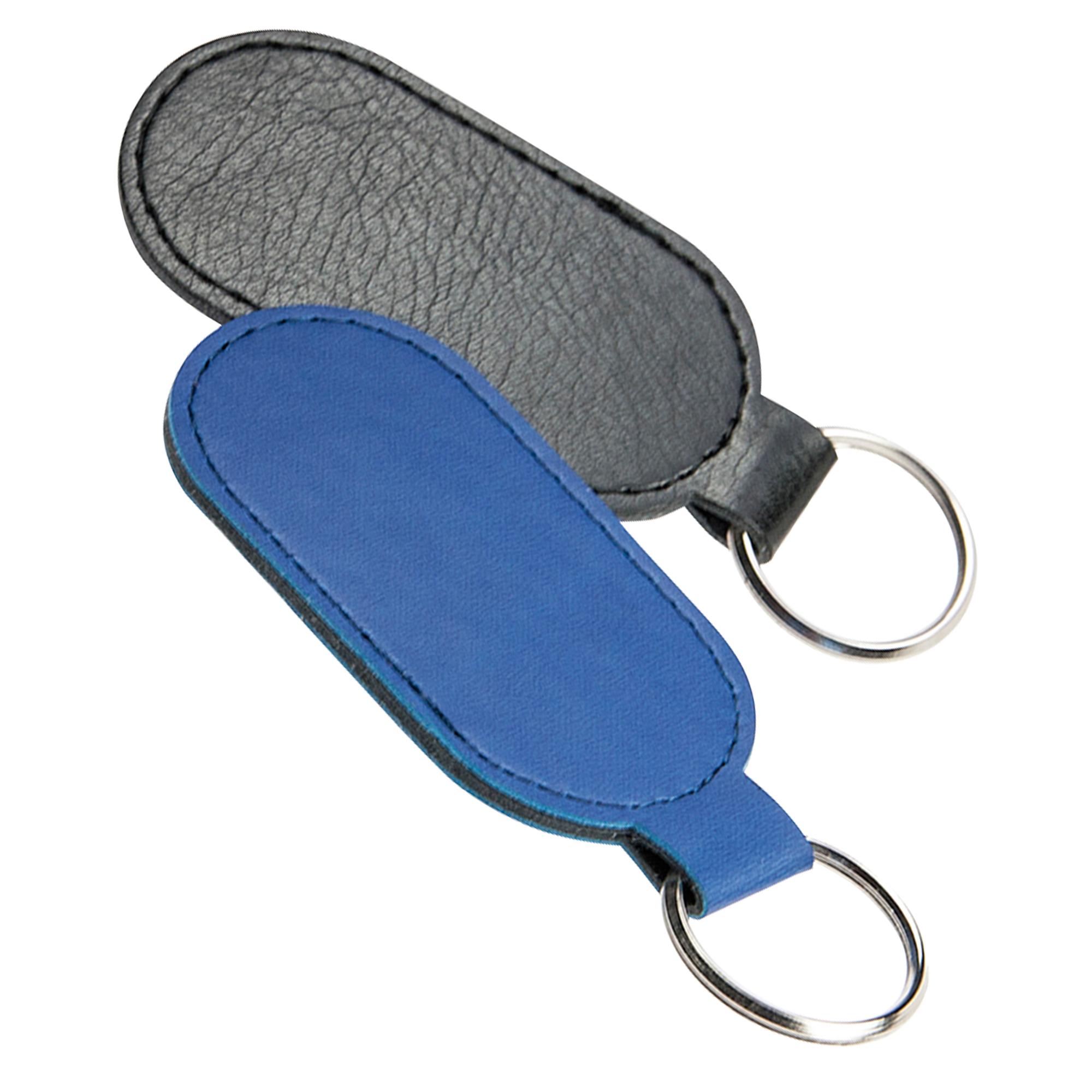 Schlüsselanhänger aus Kunststoff, oval