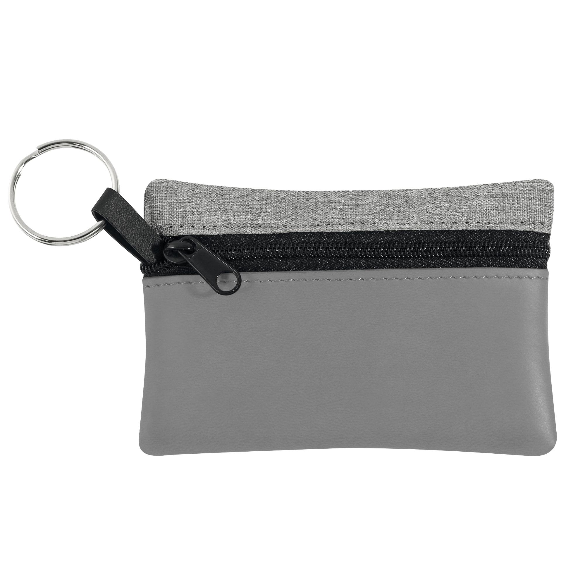 Schlüsseltasche, schwarz oder silbergrau