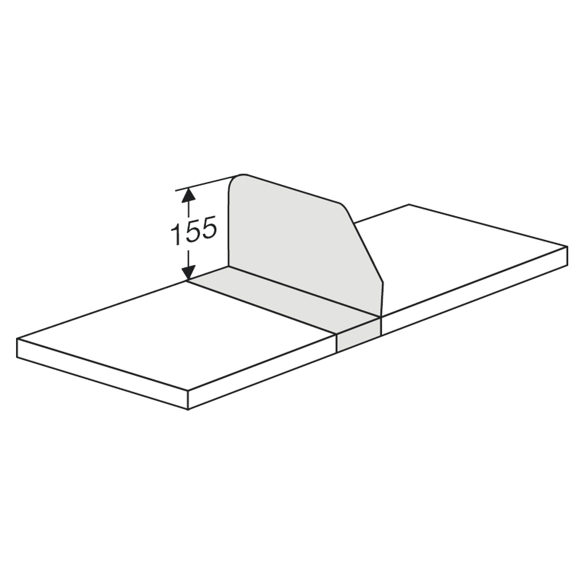 Fachteiler für Komplett-Regal/Klappenregal, 300 mm