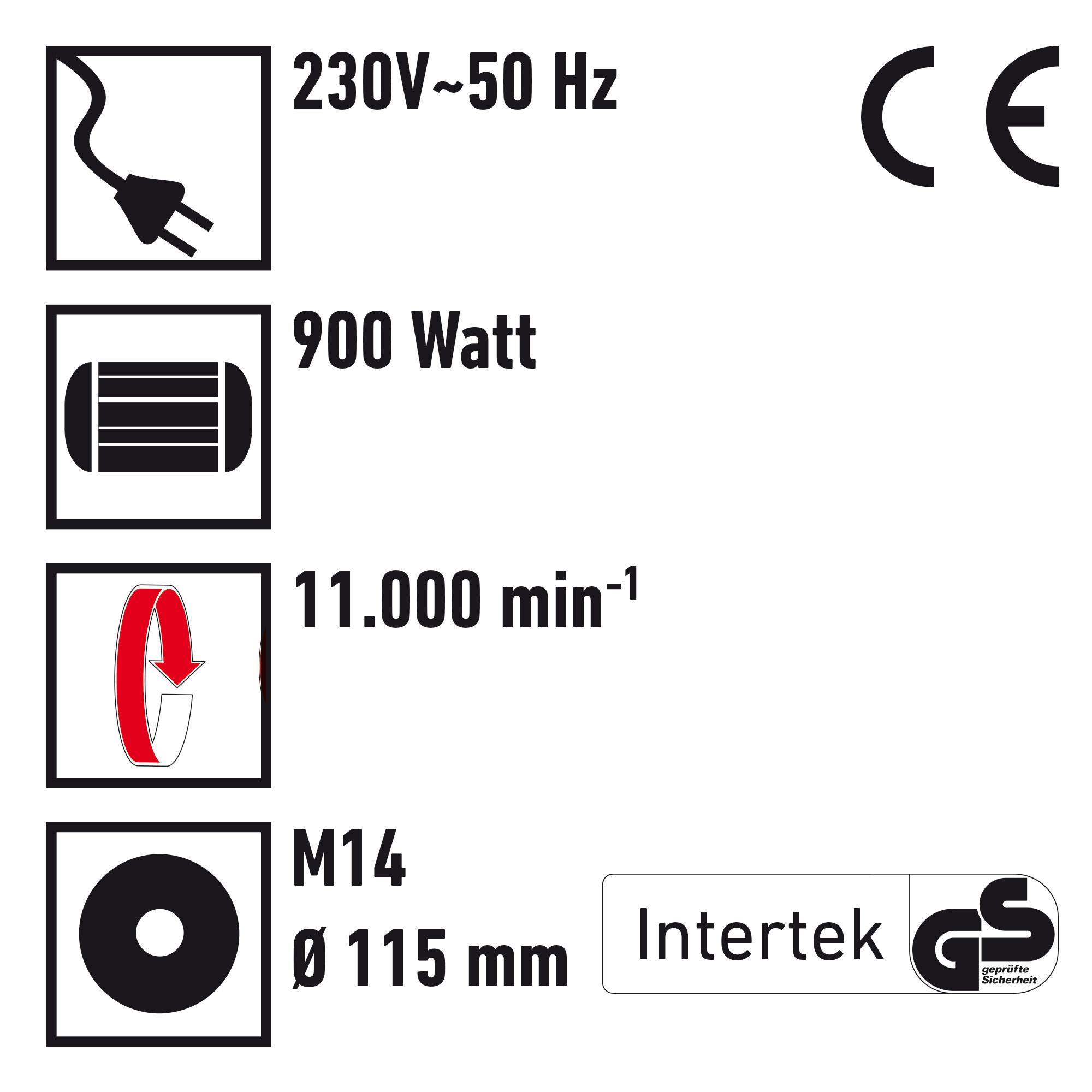 Einhand-Winkelschleifer Ø 125 mm