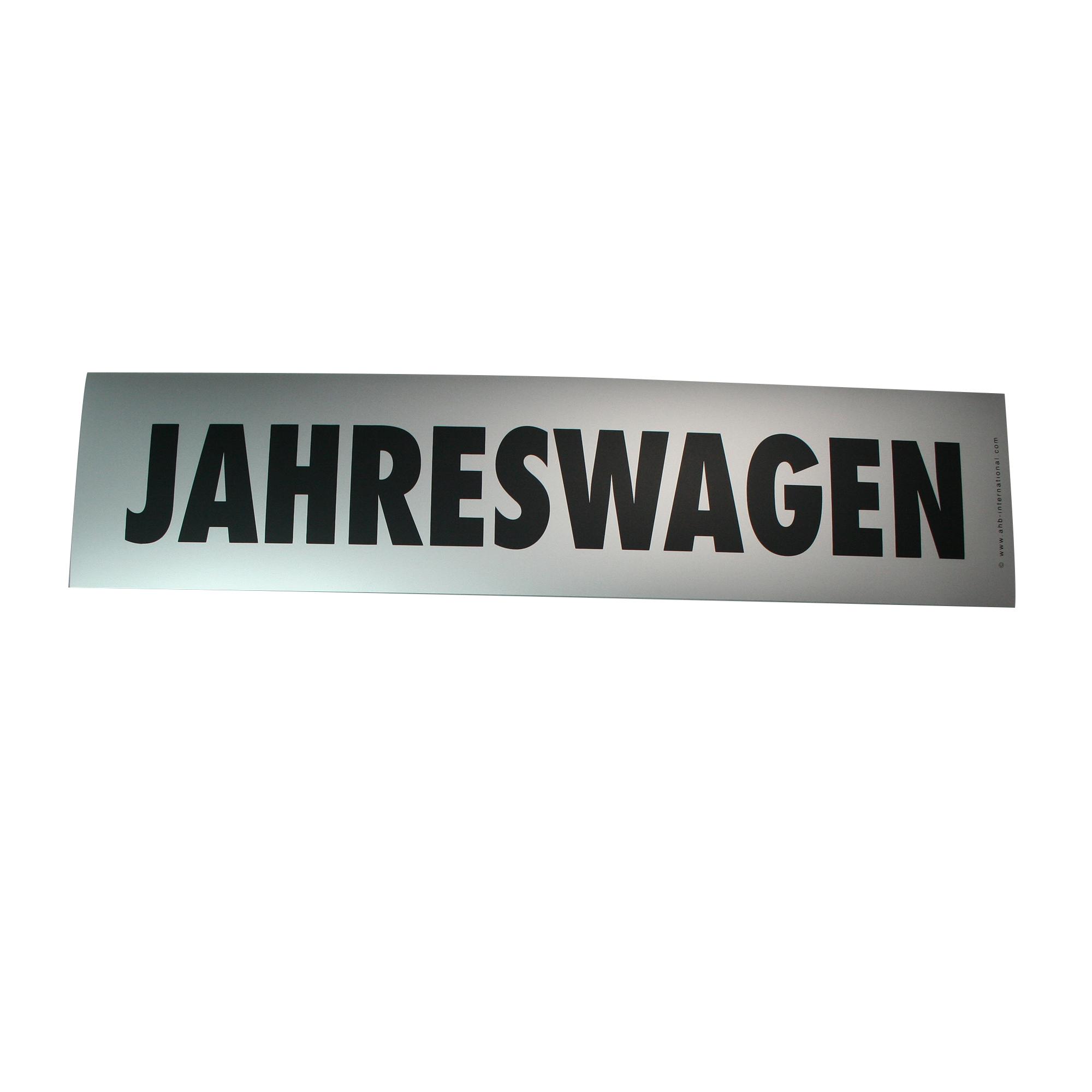 """Hinweisschild easy-stick """"Jahreswagen"""""""