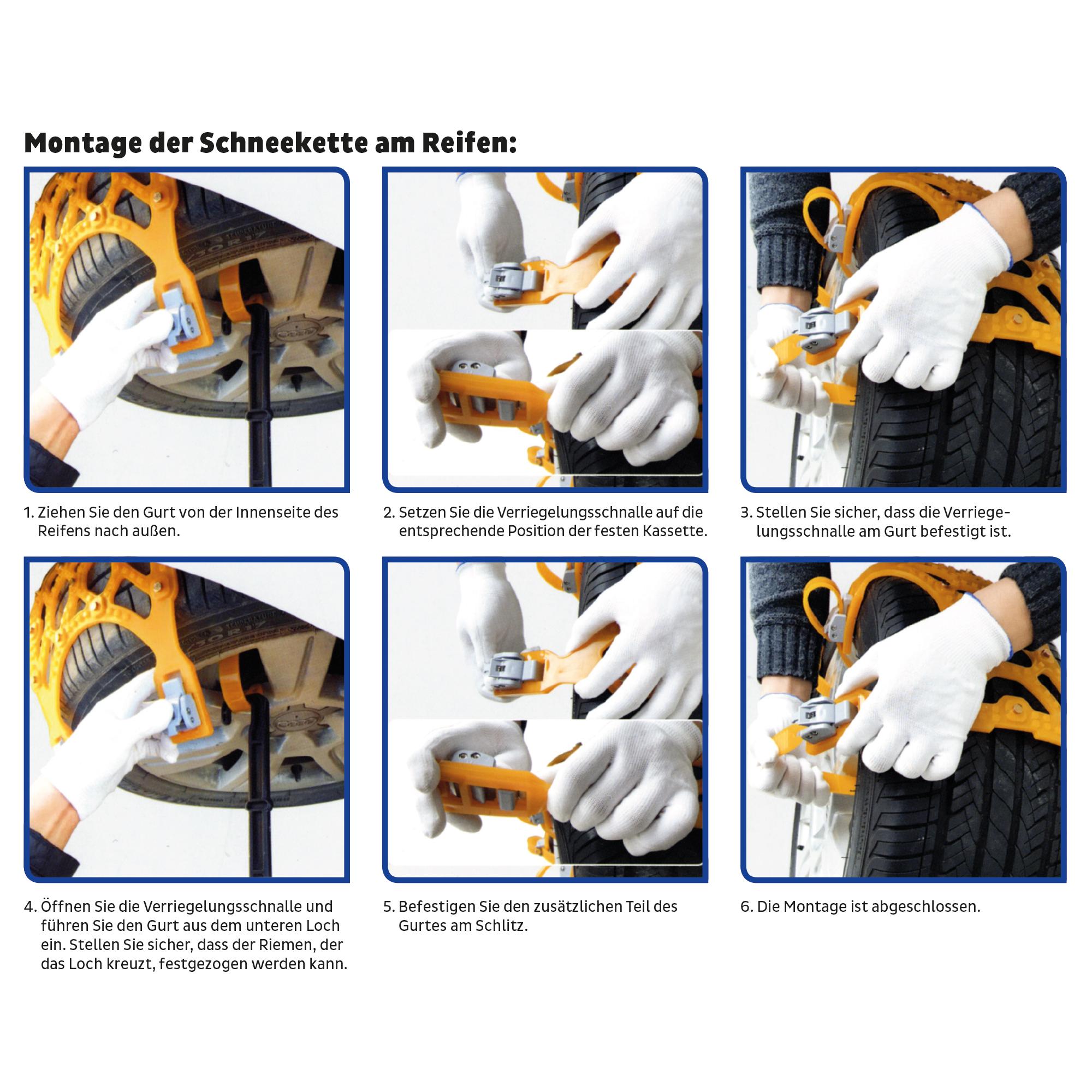 Schneekette Kunststoff 165