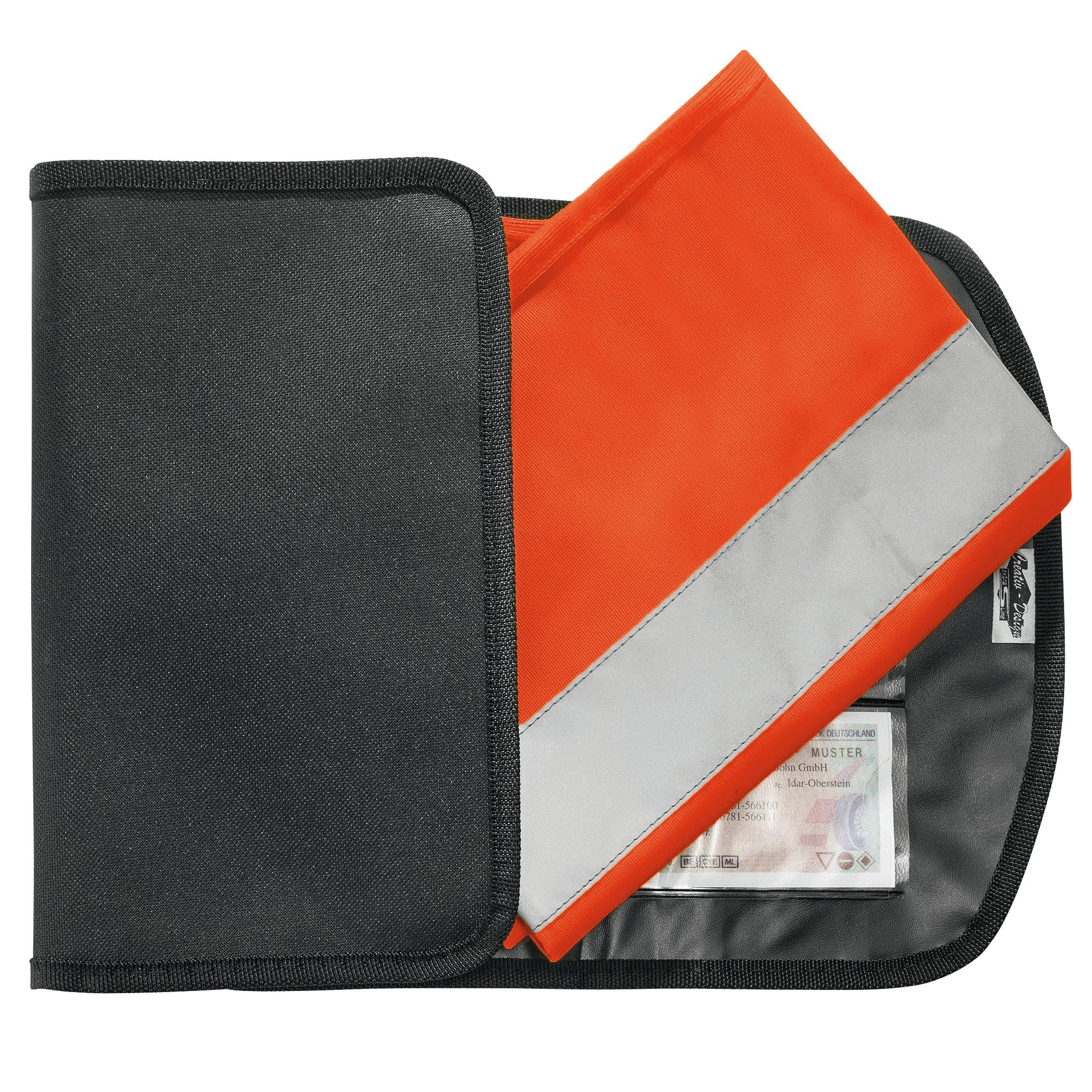 warnweste wahlweise gelb oder orange jetzt online kaufen im ahb shop. Black Bedroom Furniture Sets. Home Design Ideas